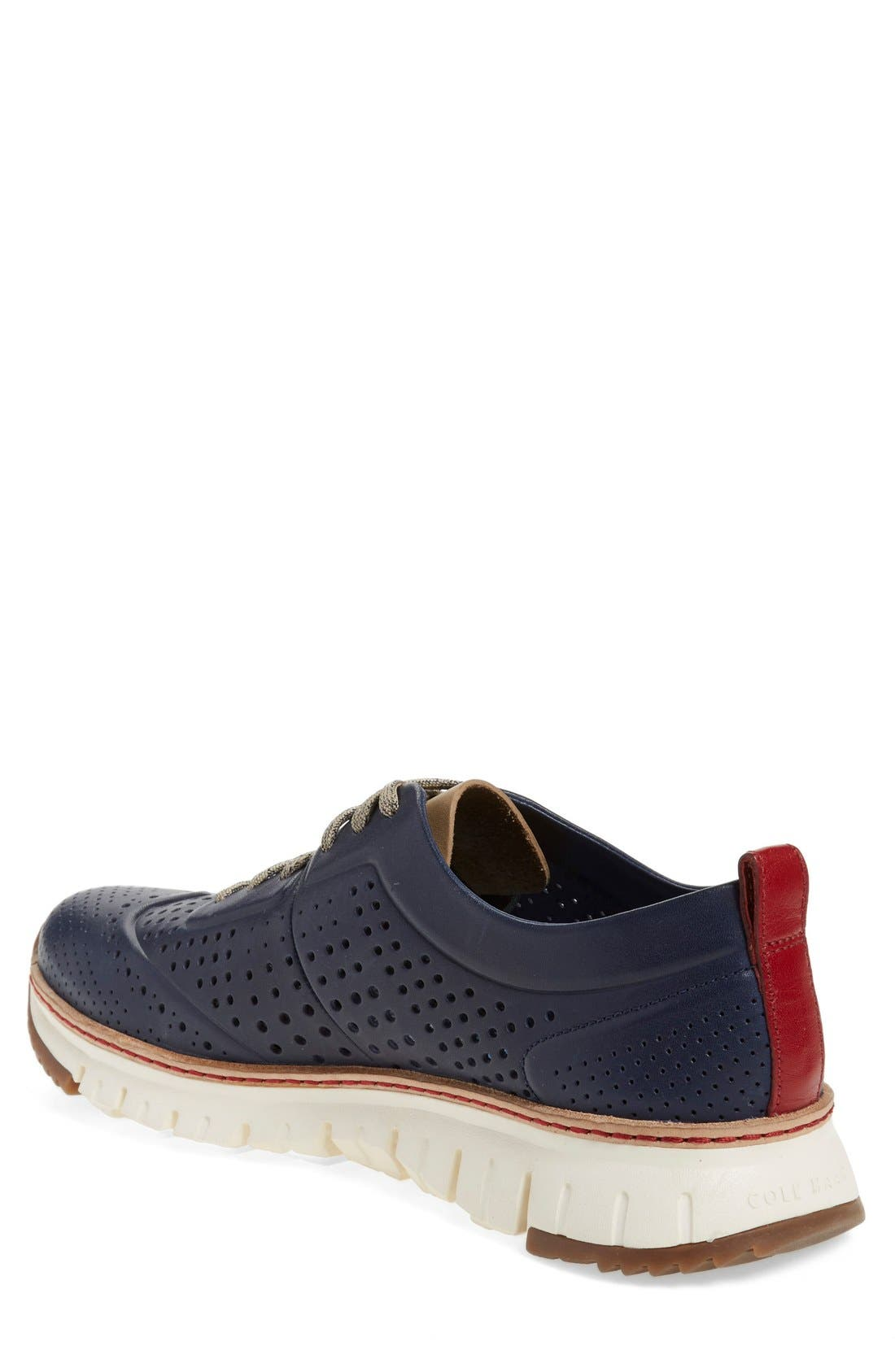 COLE HAAN,                             'ZerøGrand' Perforated Wingtip Sneaker,                             Alternate thumbnail 6, color,                             400