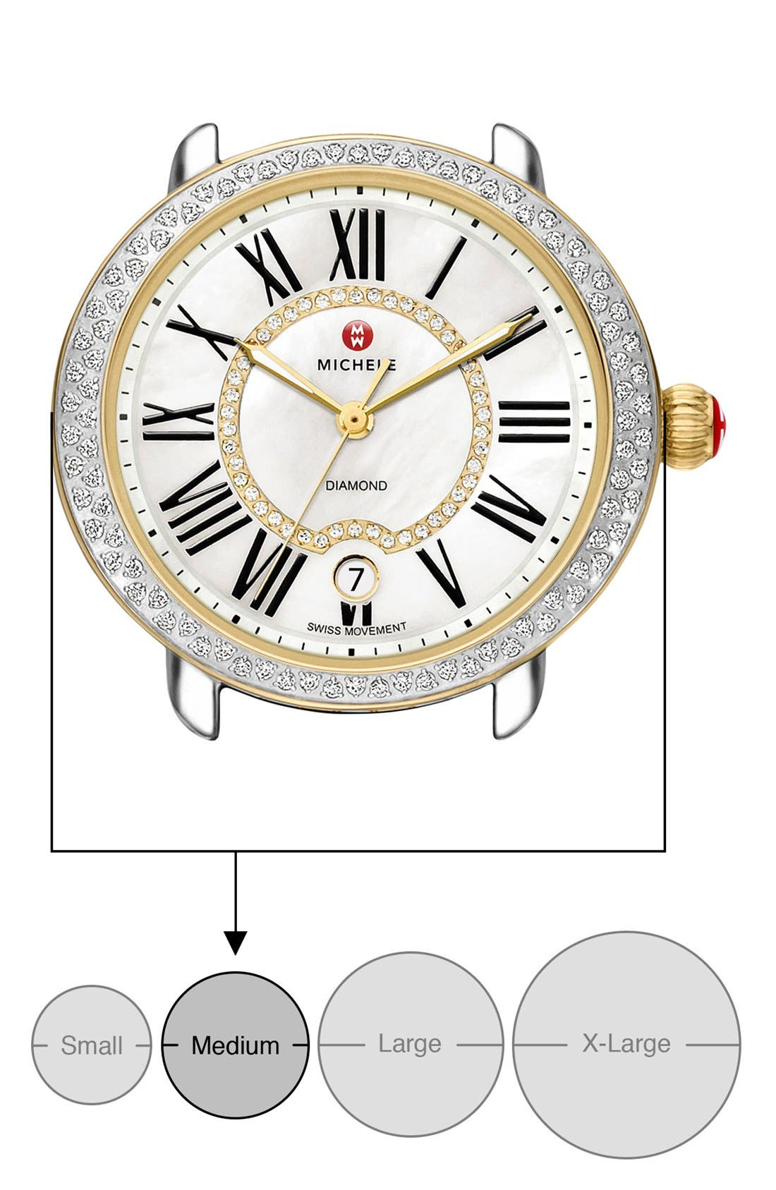 Serein 16 Diamond Watch Case, 34mm x 36mm,                             Alternate thumbnail 23, color,