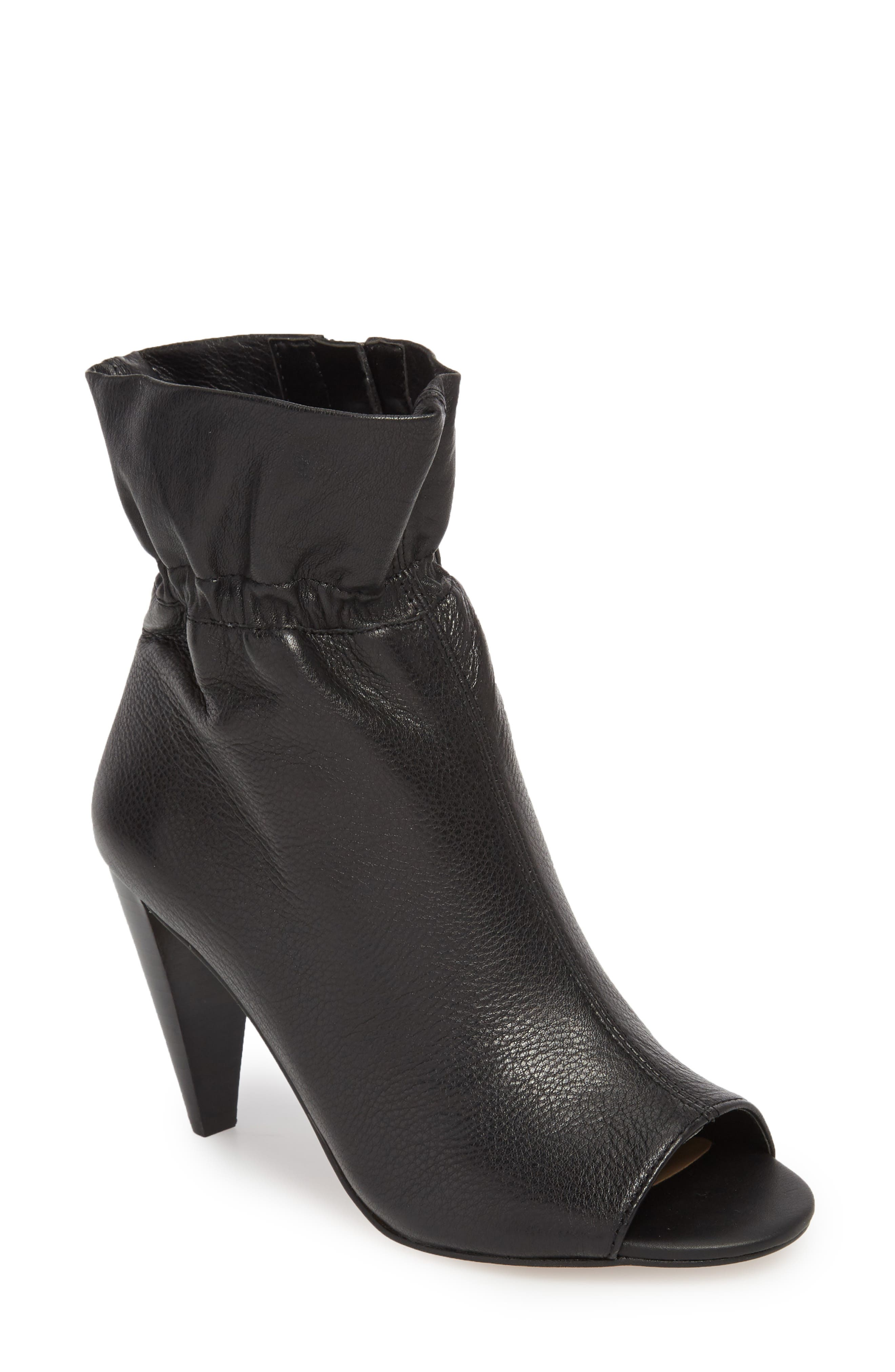 Addiena Bootie,                             Main thumbnail 1, color,                             BLACK LEATHER