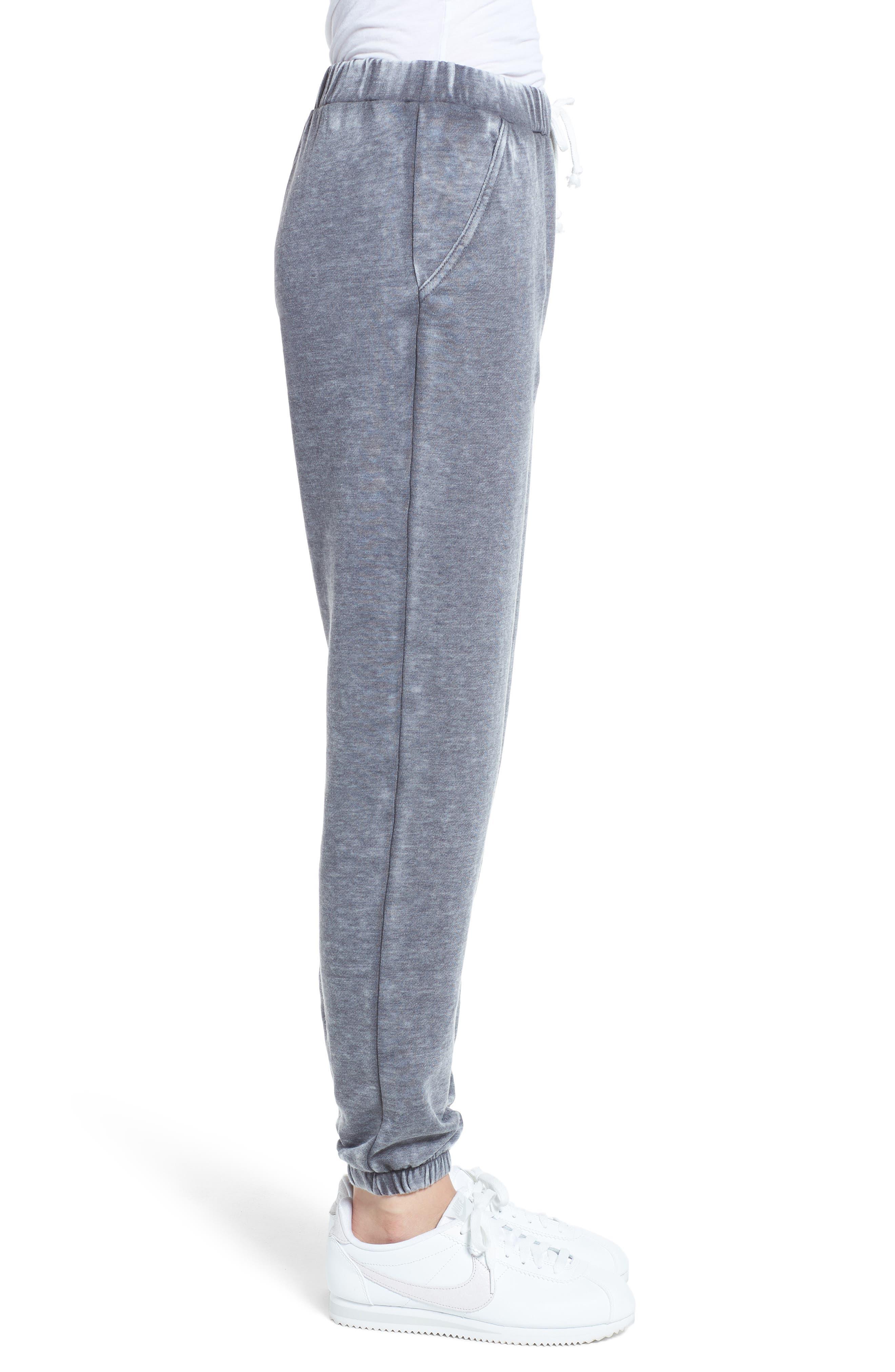 Riya Fashion Fleece Sweatpants,                             Alternate thumbnail 3, color,                             020