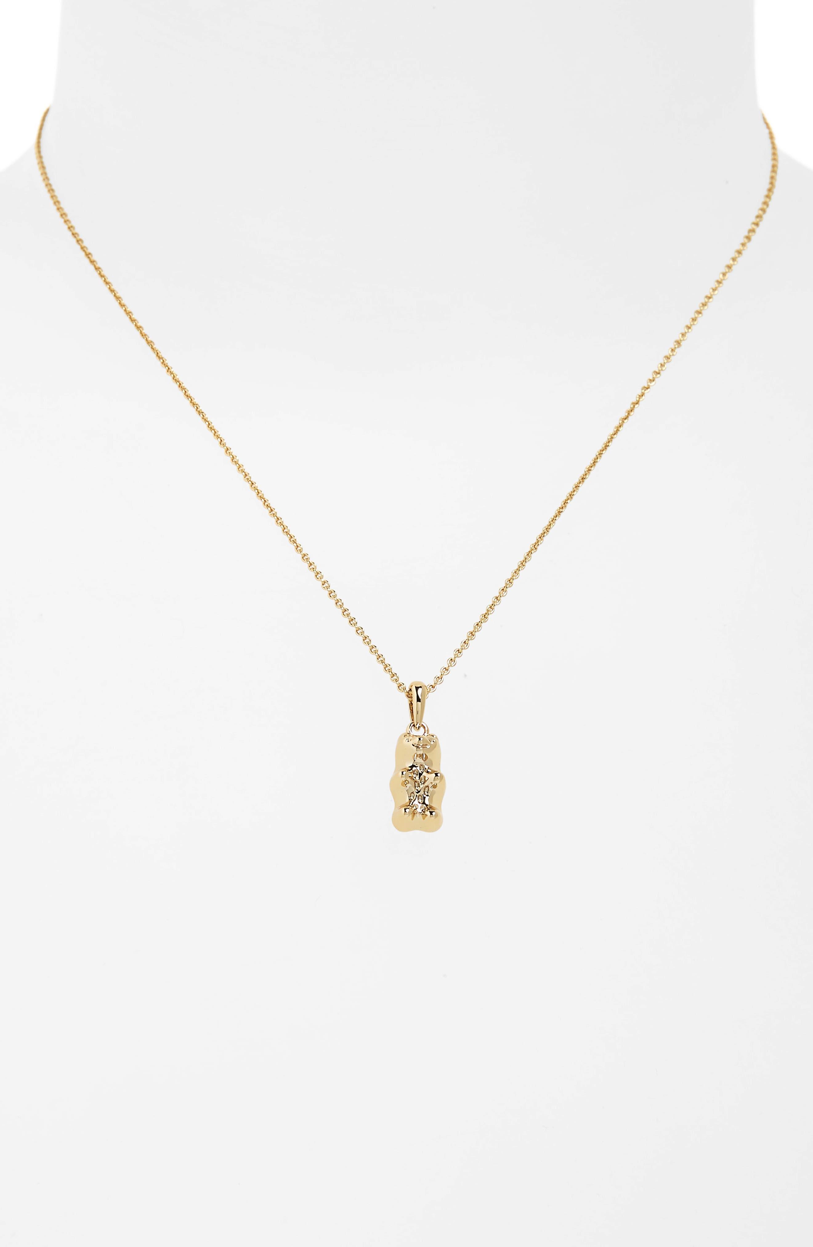 Gummy Bear Delicate Pendant Necklace,                             Alternate thumbnail 2, color,                             ROSE GOLD