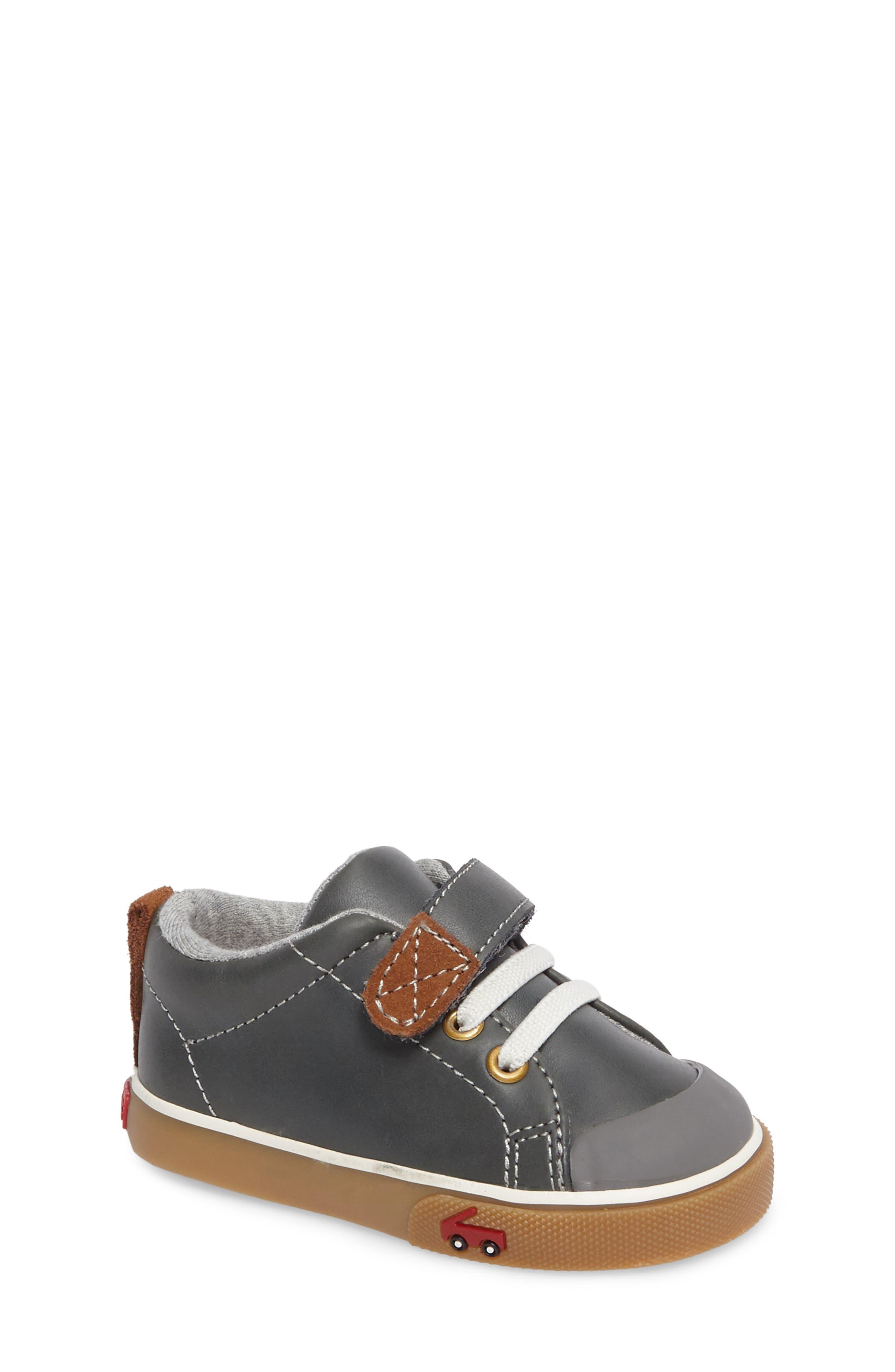 Stevie II Sneaker,                         Main,                         color, GREY LEATHER