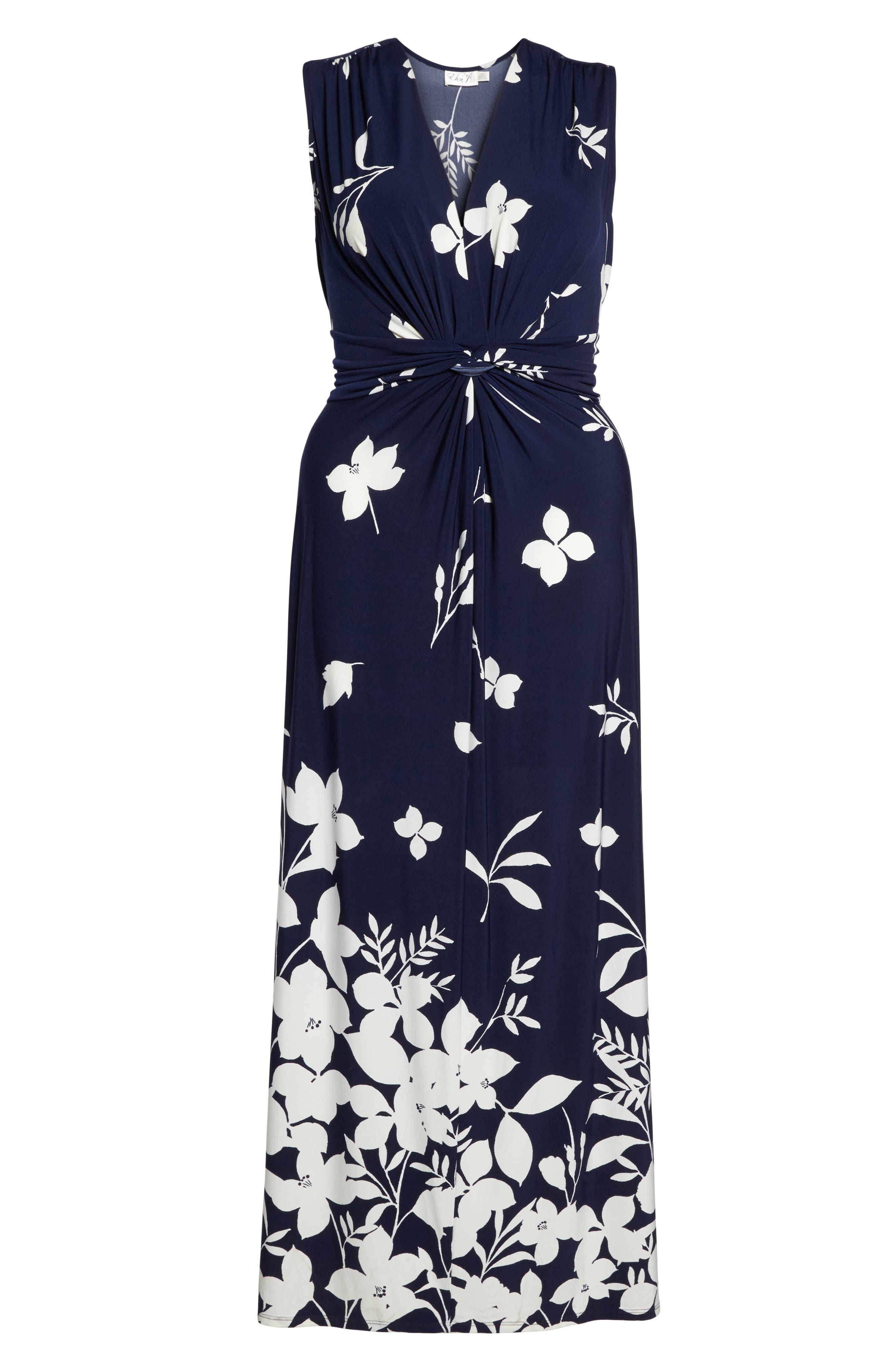 Sleeveless Knot Detail Maxi Dress,                             Alternate thumbnail 6, color,                             407