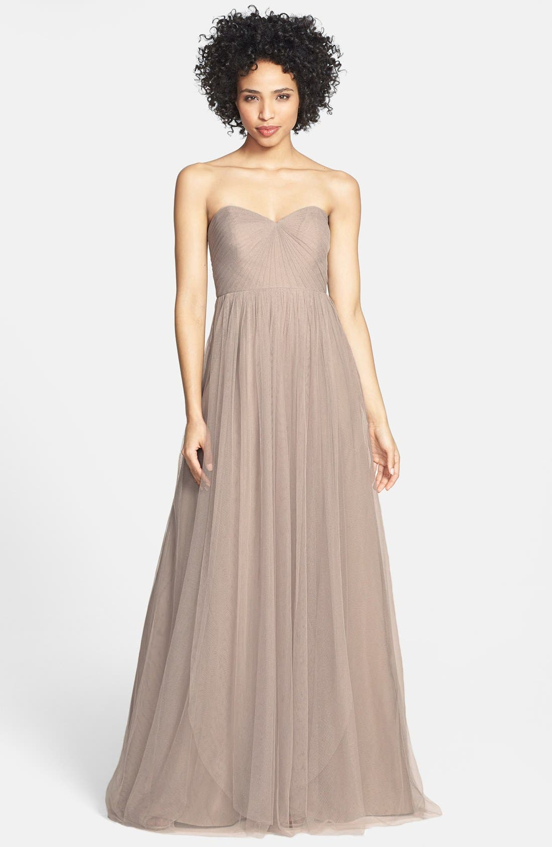 Annabelle Convertible Tulle Column Dress,                             Main thumbnail 15, color,
