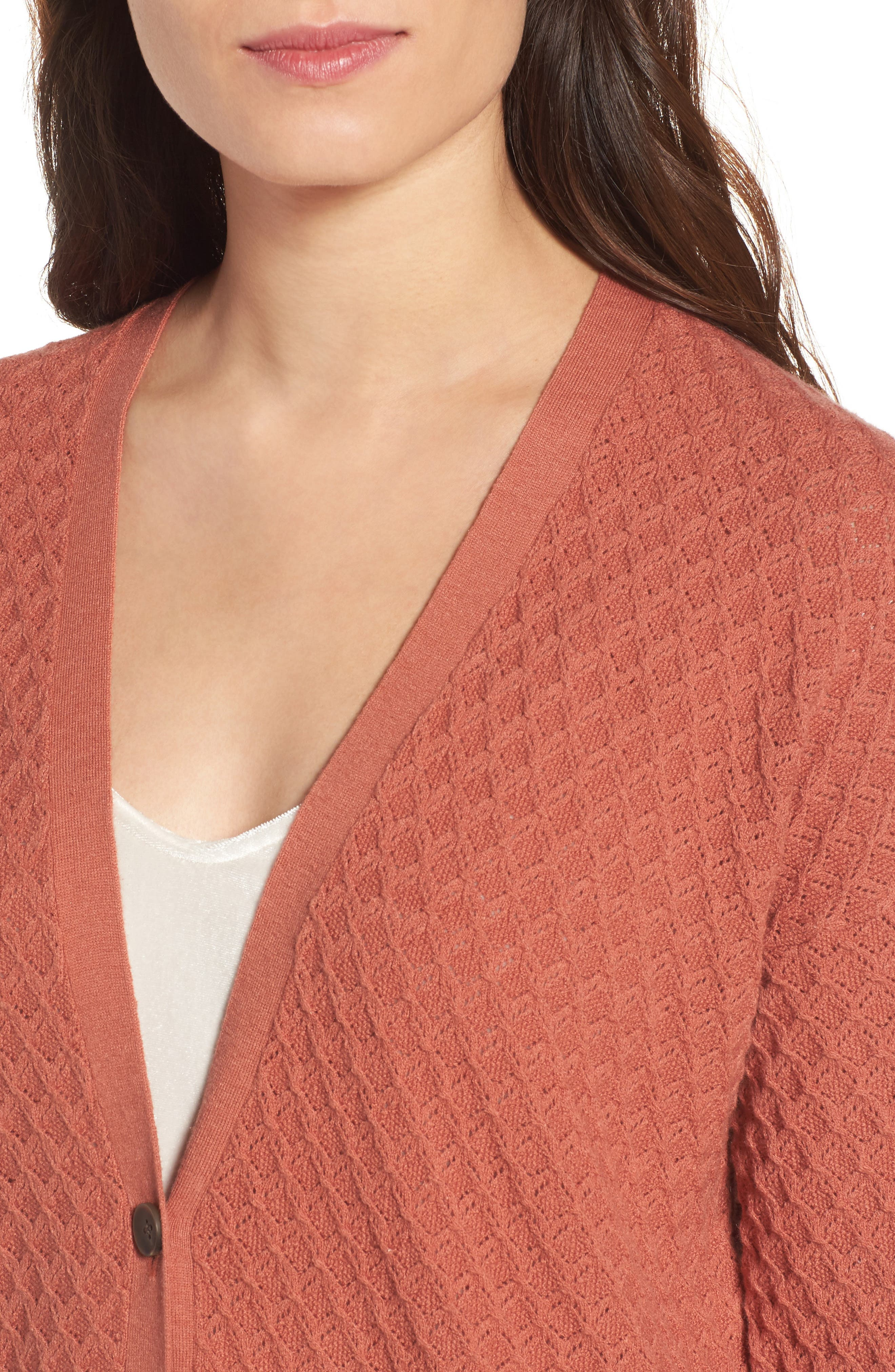 Pointelle Cardigan Sweater,                             Alternate thumbnail 16, color,
