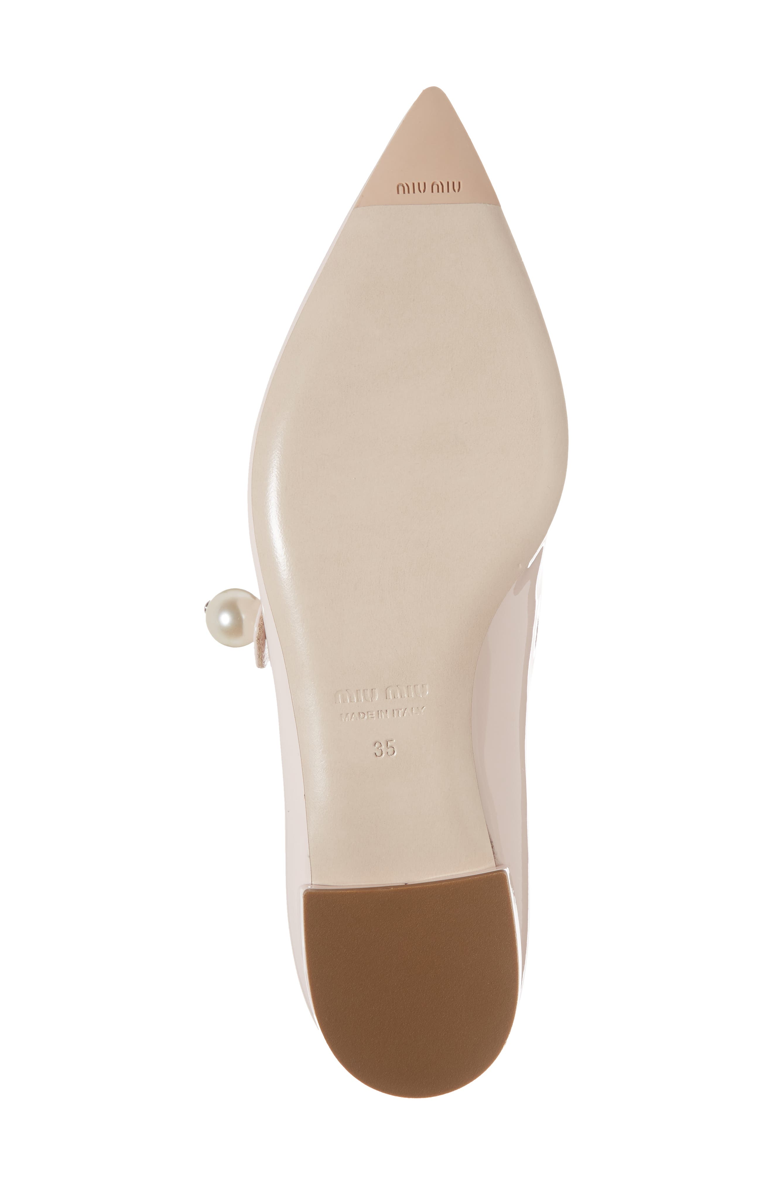 Pearl Mary Jane Flat,                             Alternate thumbnail 6, color,                             LIGHT PINK