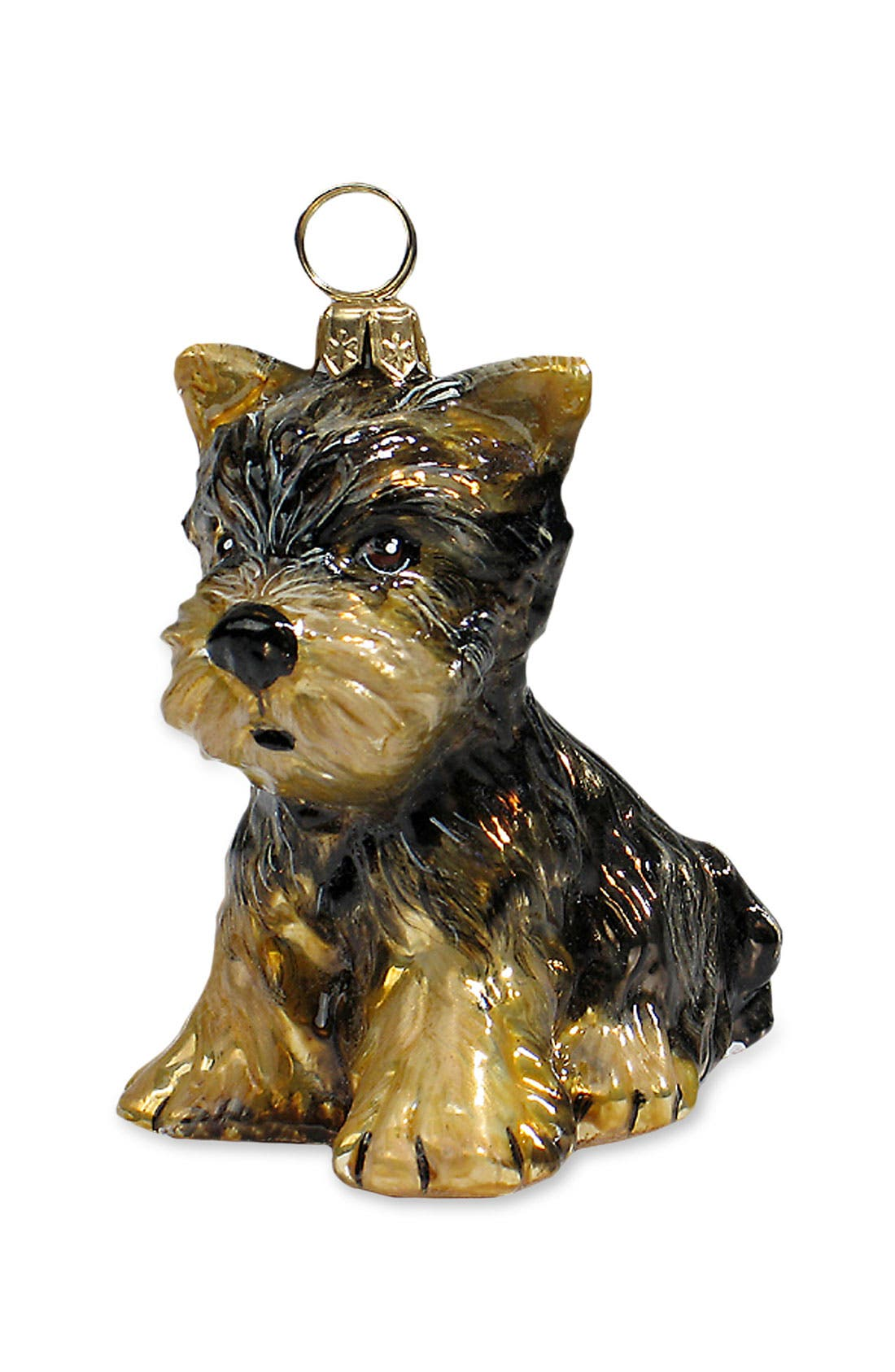 'Yorkie Puppy' Dog Ornament,                             Main thumbnail 1, color,                             YORKSHIRE TERRIER PUPPY
