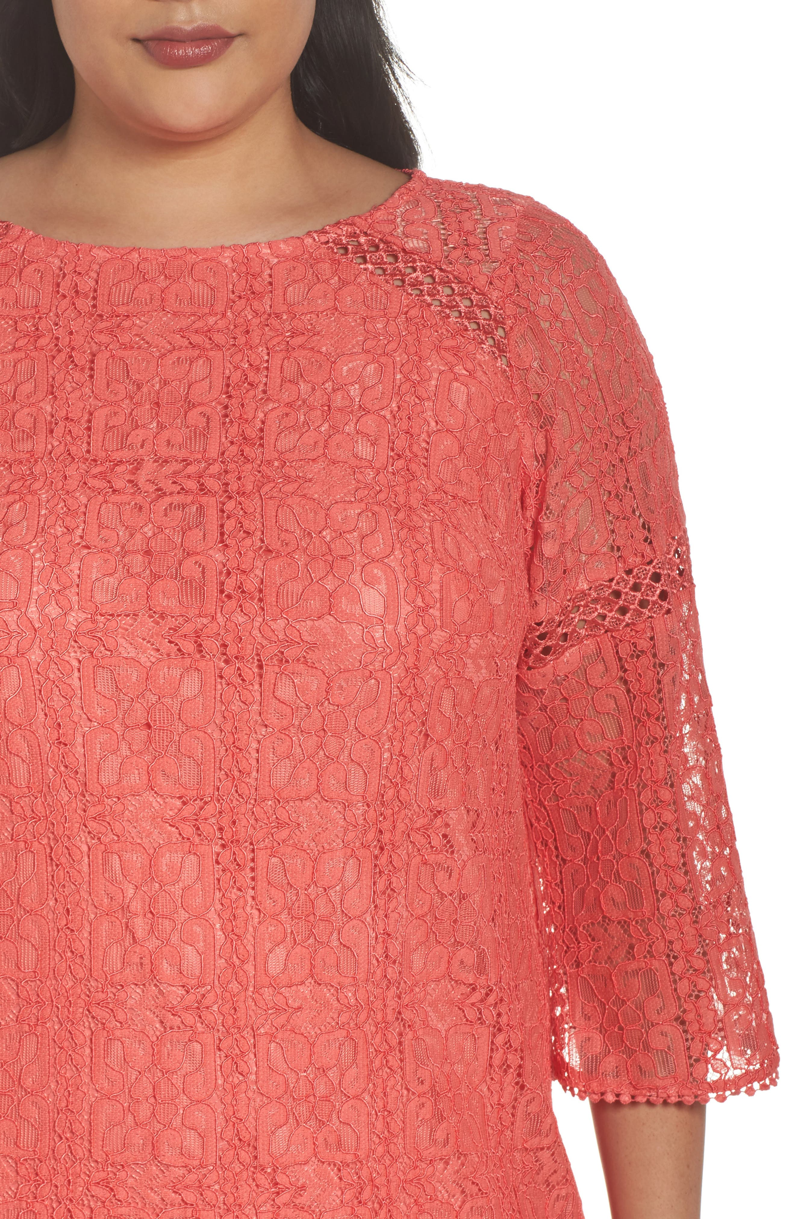 Marni Lace Shift Dress,                             Alternate thumbnail 4, color,