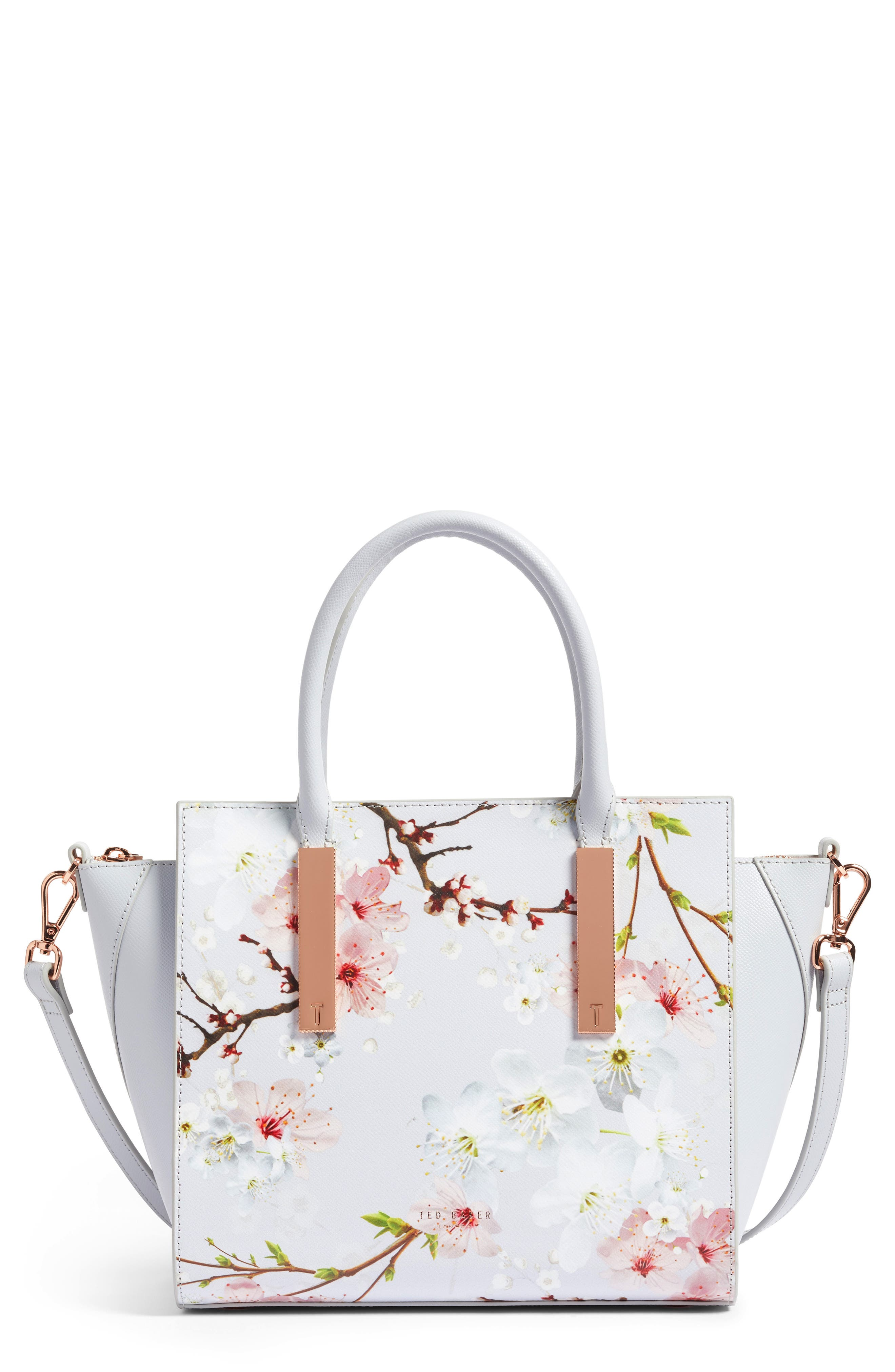 Blossom Leather Tote,                             Main thumbnail 1, color,                             020