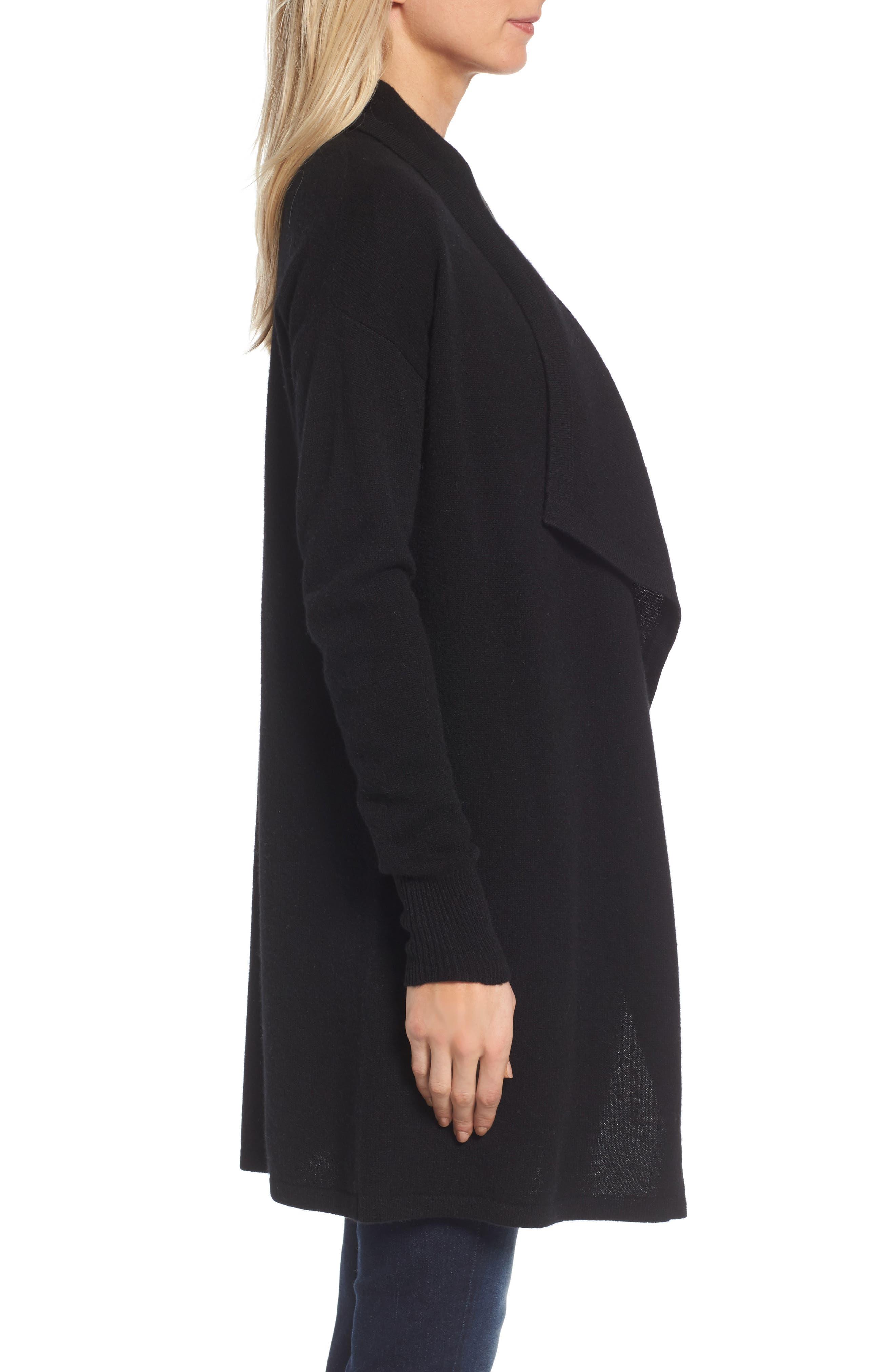Cashmere Long Drape Front Cardigan,                             Alternate thumbnail 26, color,