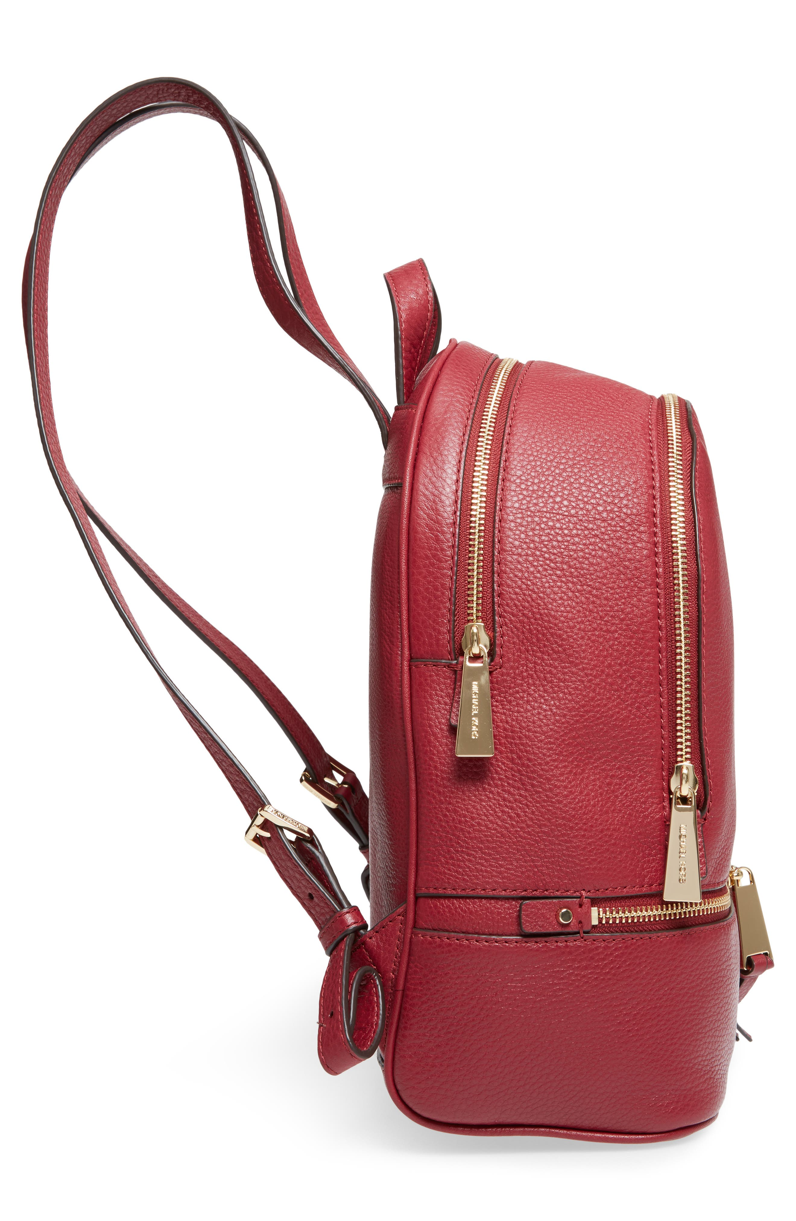 'Extra Small Rhea Zip' Leather Backpack,                             Alternate thumbnail 5, color,                             646