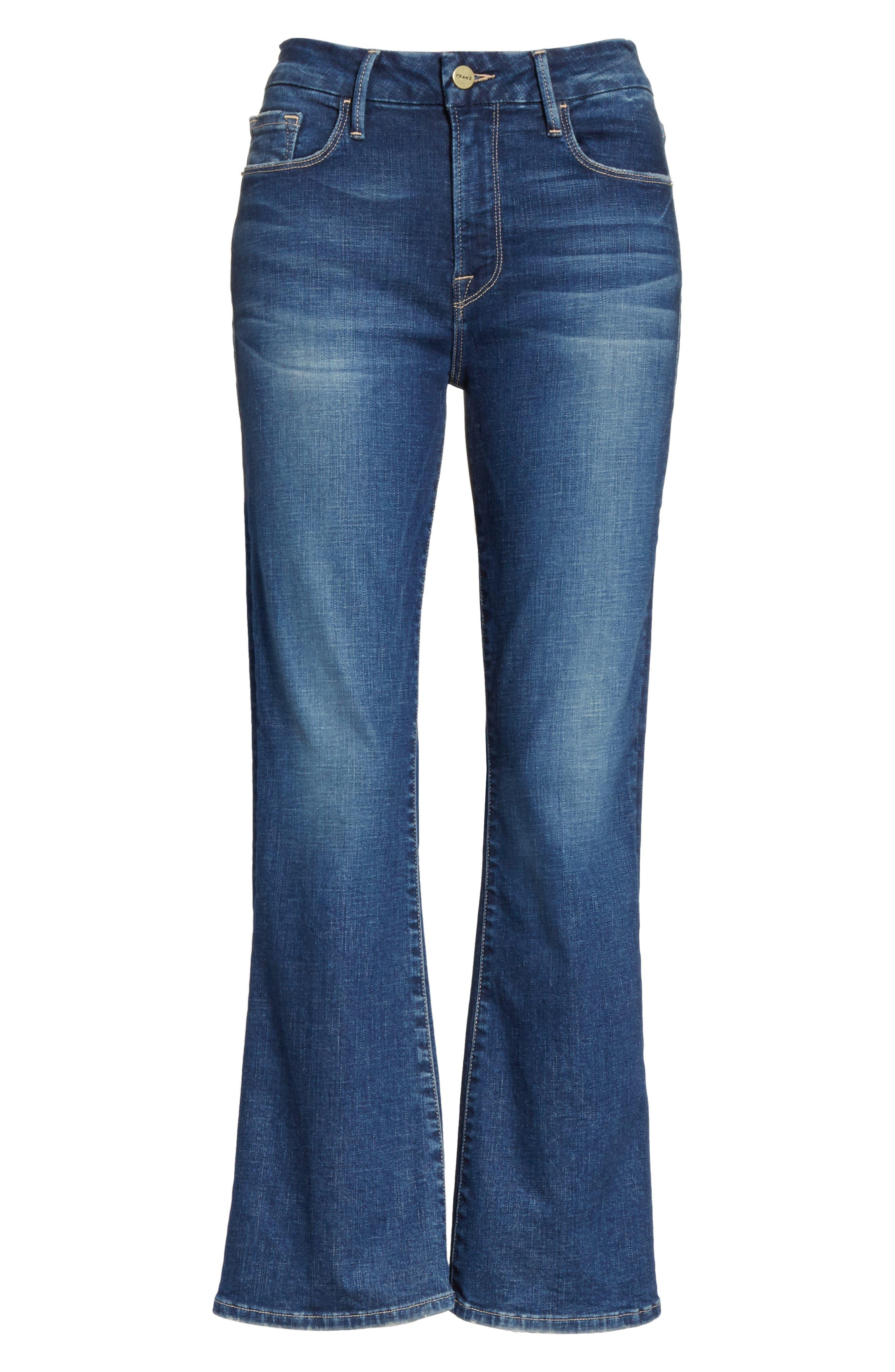 Le Crop Mini Boot Jeans,                             Alternate thumbnail 6, color,                             401