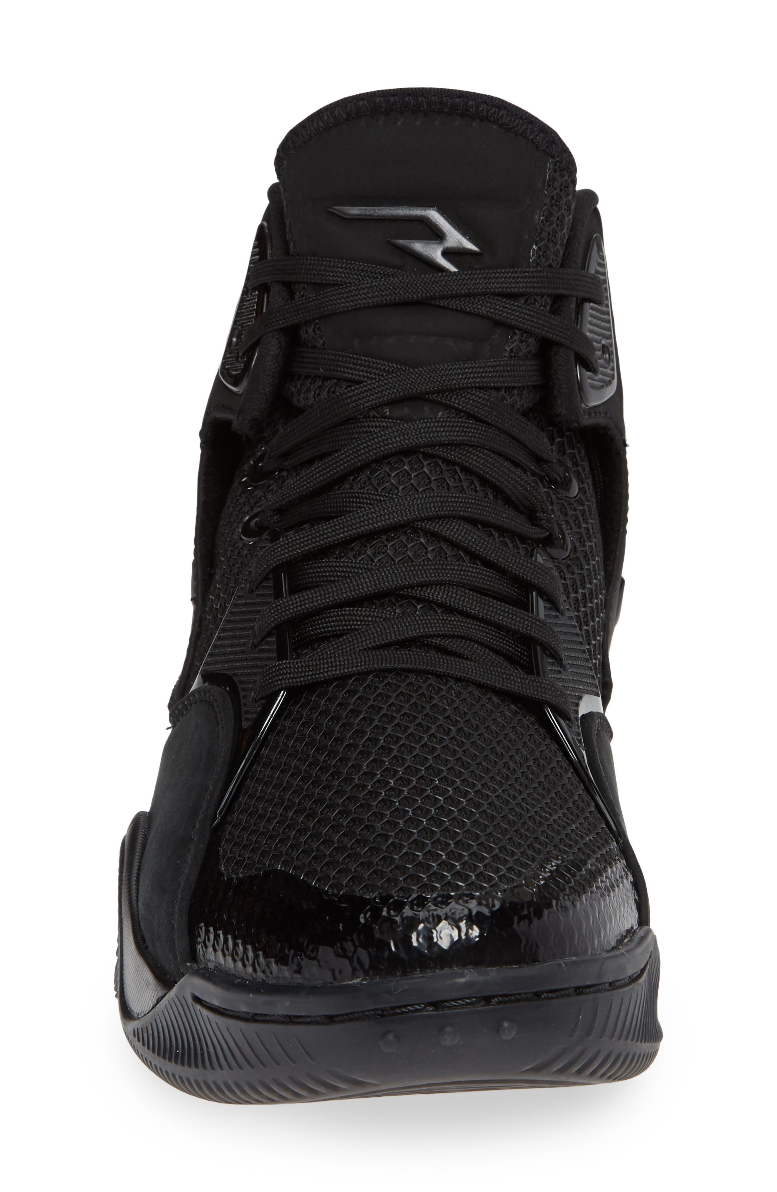 Dangeruss Wilson 1 Sneaker,                             Alternate thumbnail 4, color,                             BLACK/ METALLIC GOLD