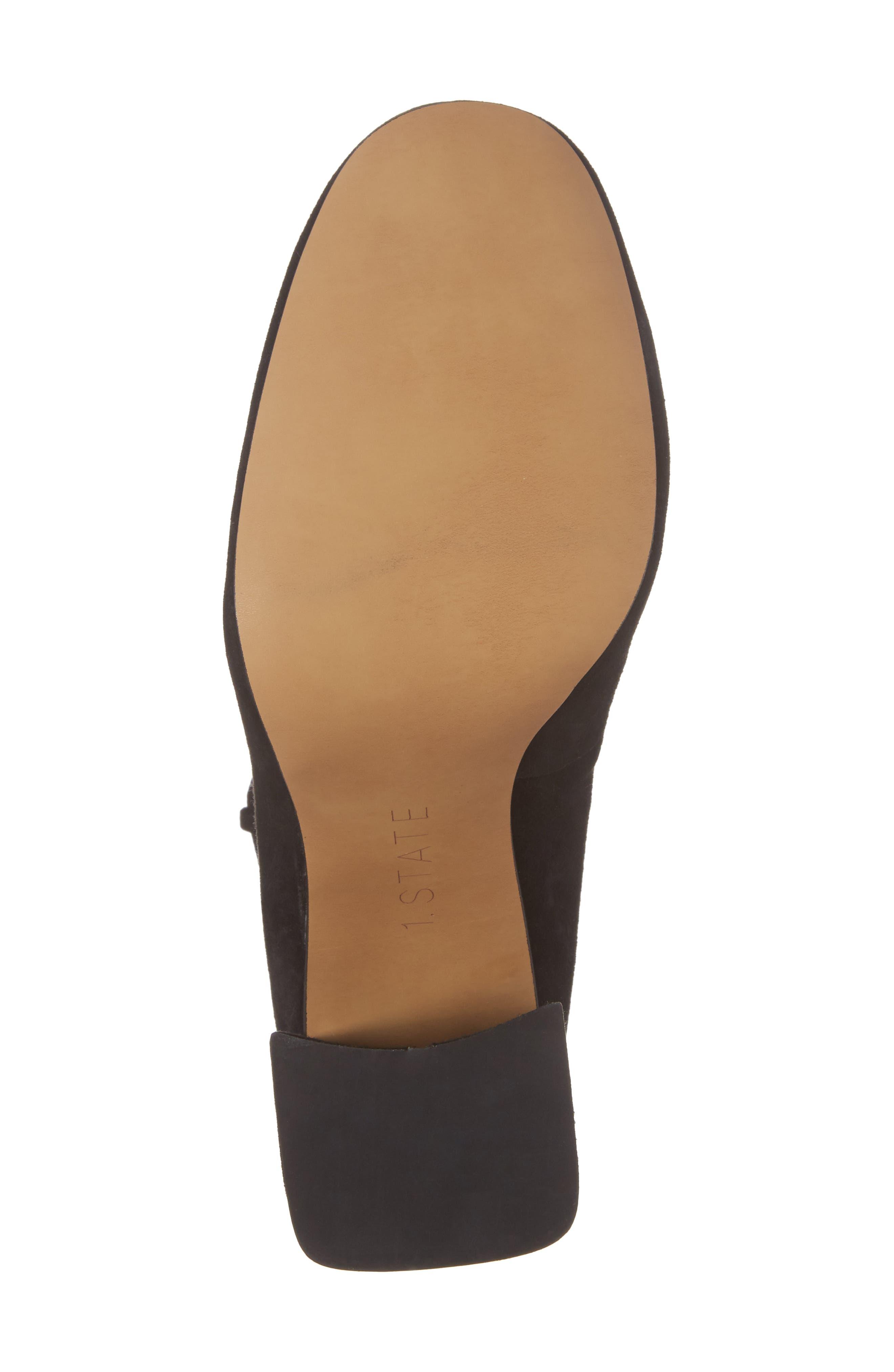 Makal Flared Heel Wraparound Pump,                             Alternate thumbnail 6, color,                             001