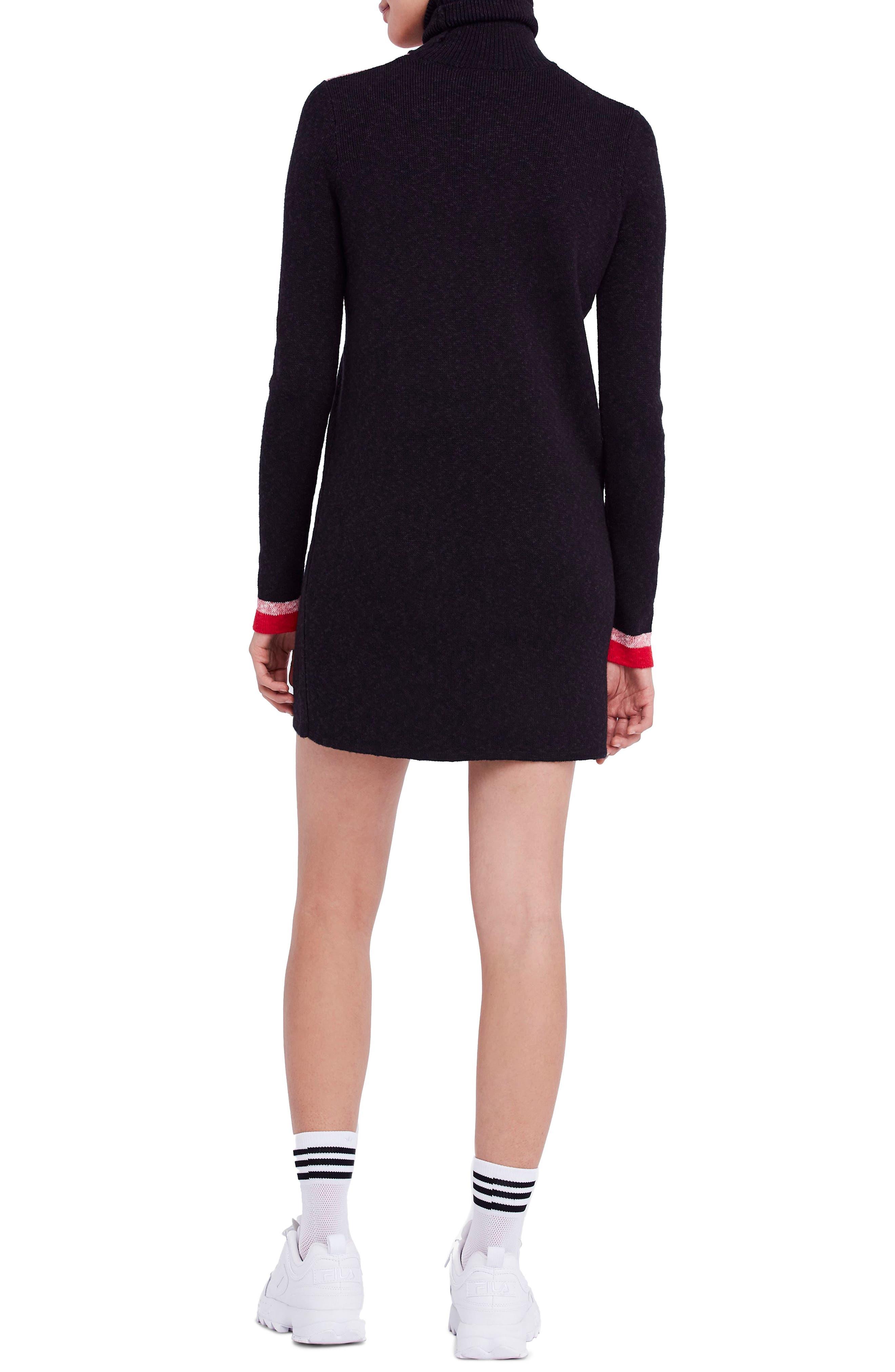 Winter Break Sweater Dress,                             Alternate thumbnail 2, color,                             001