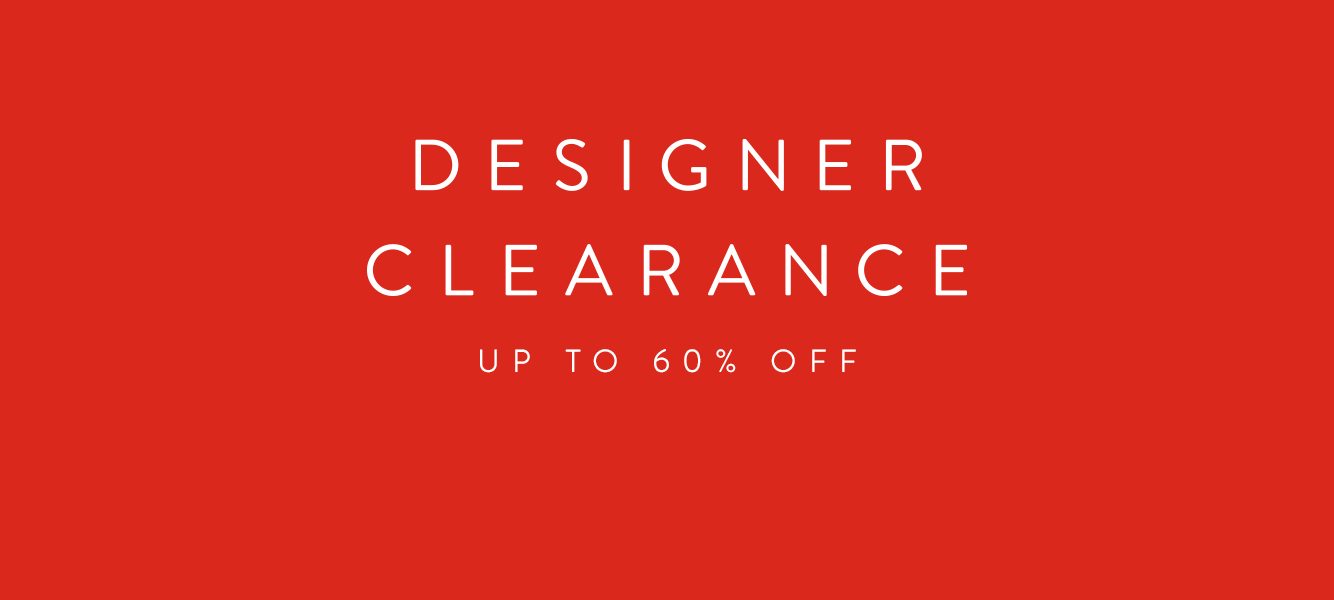 Designer Clearance: up to 60% off collections for men.