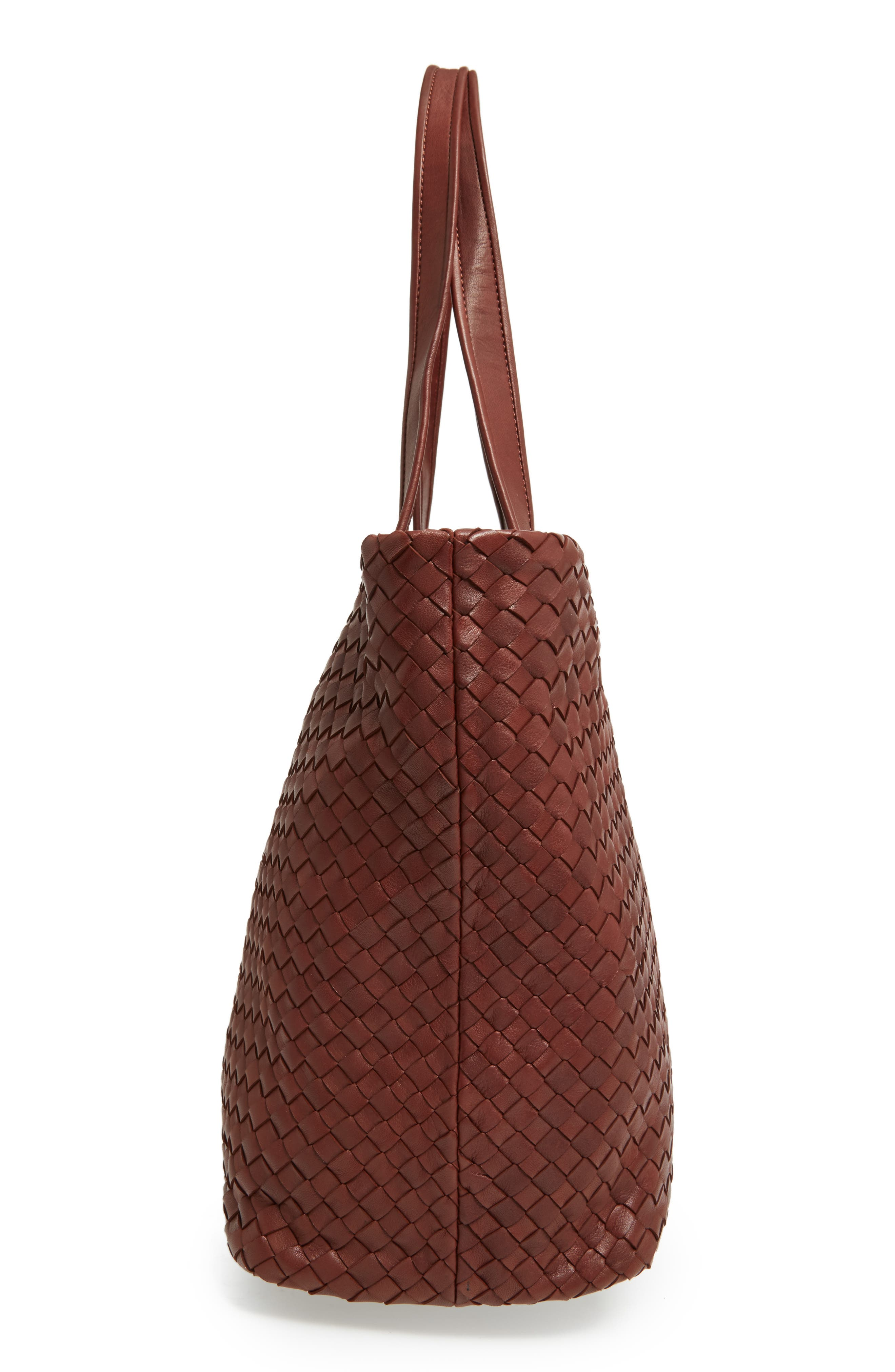 Rina Leather Tote,                             Alternate thumbnail 5, color,                             LUGGAGE