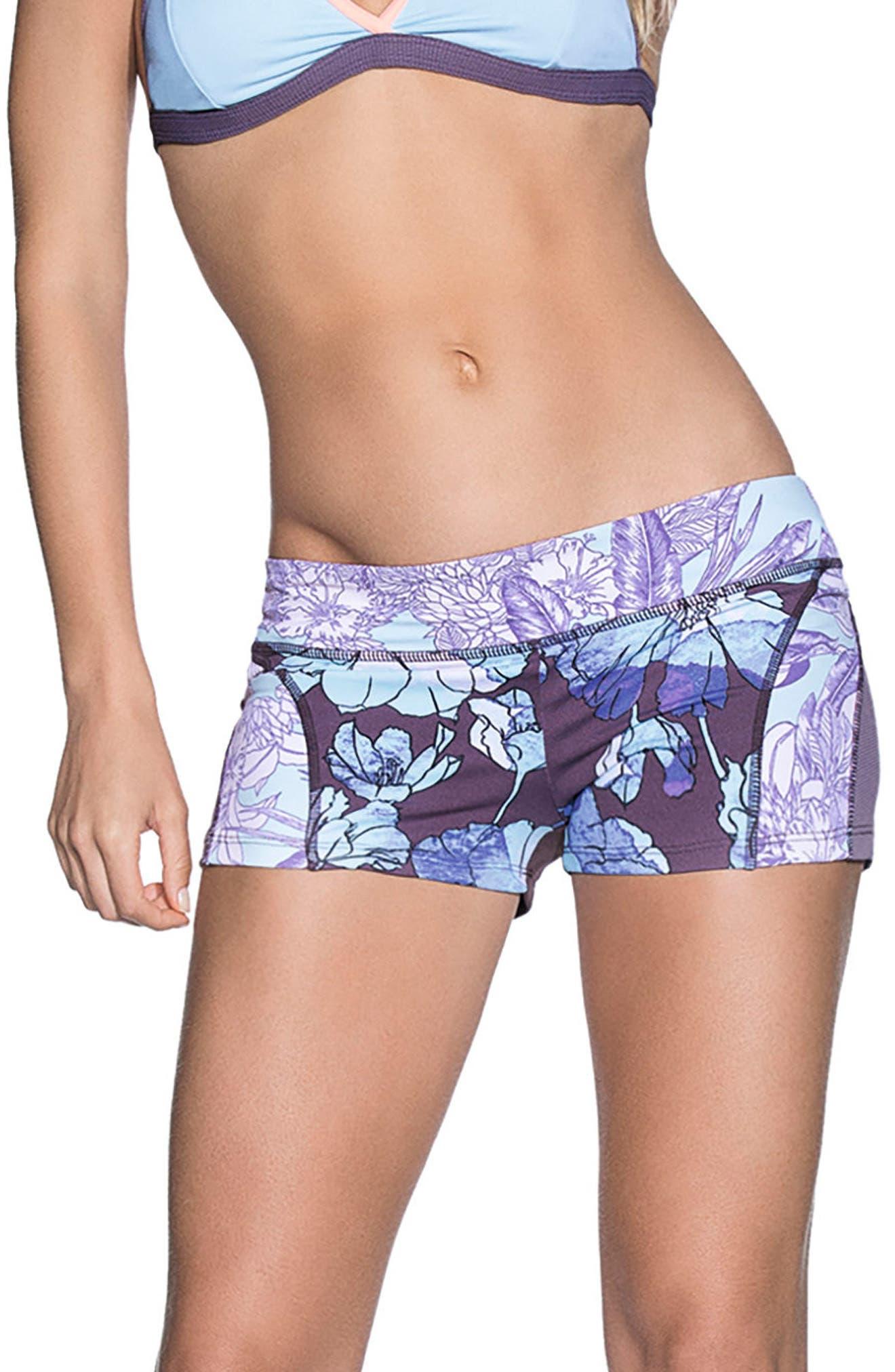 Exotic Beauty Surf Shorts,                             Main thumbnail 1, color,                             500