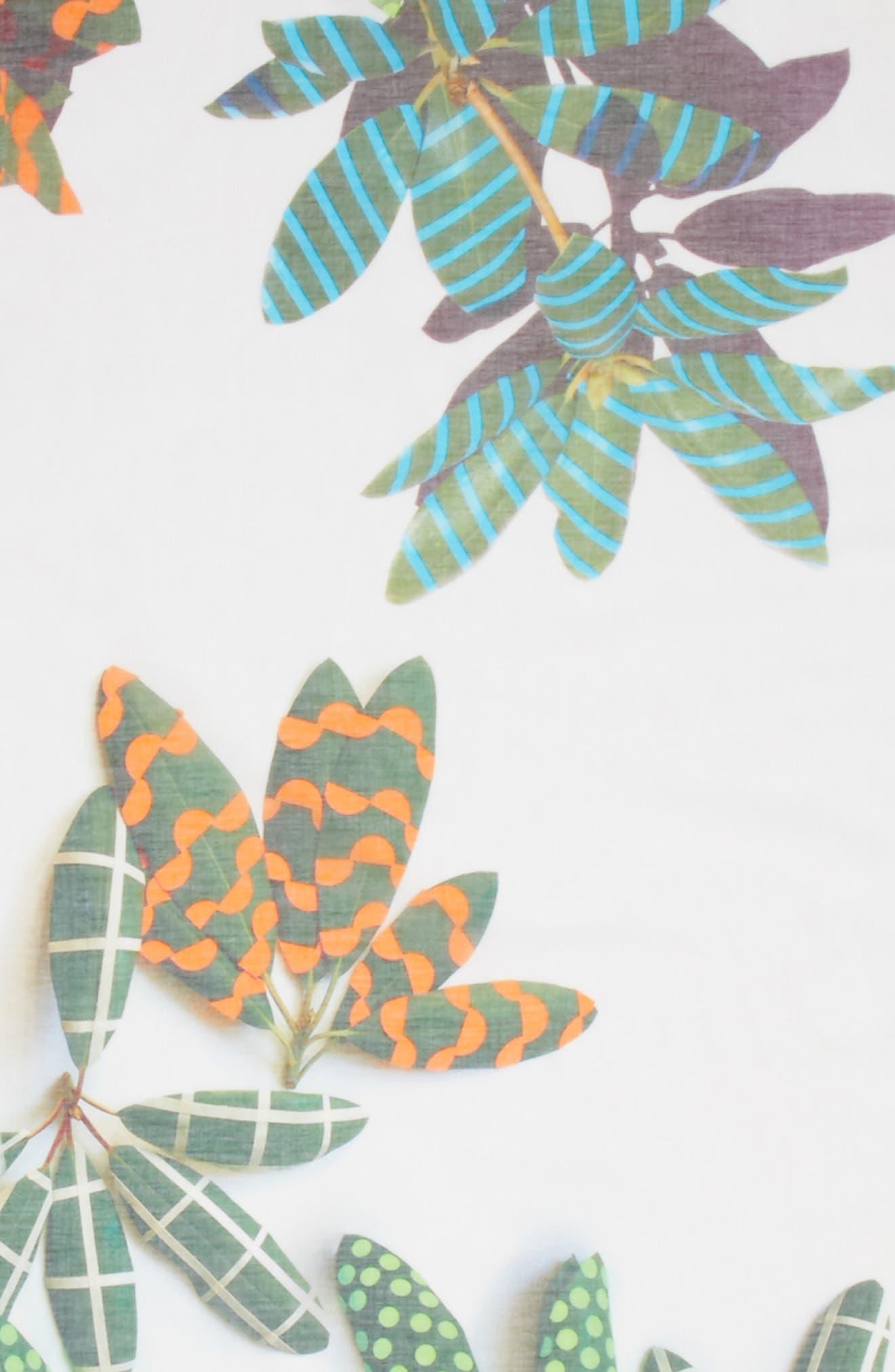 Tropical Print Cotton & Cashmere Scarf,                             Alternate thumbnail 4, color,                             115