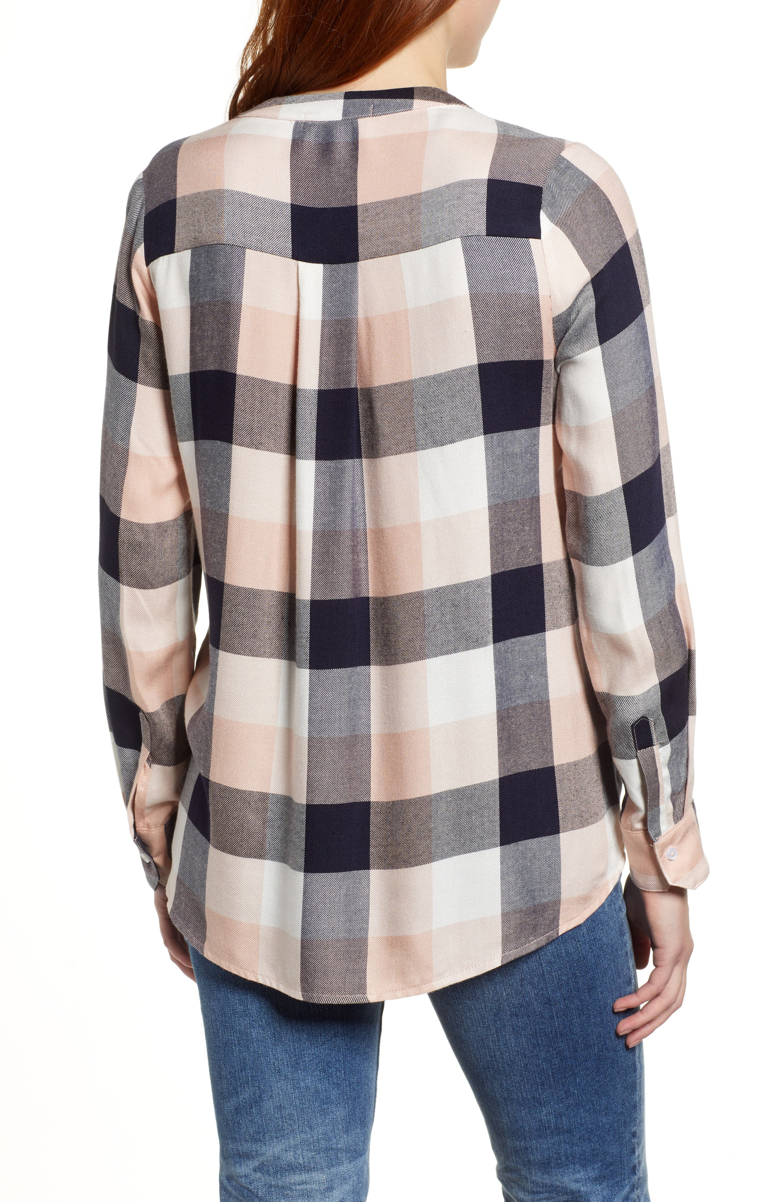GIBSON,                             x Living in Yellow Ellen Brushed Check Shirt,                             Alternate thumbnail 2, color,                             452