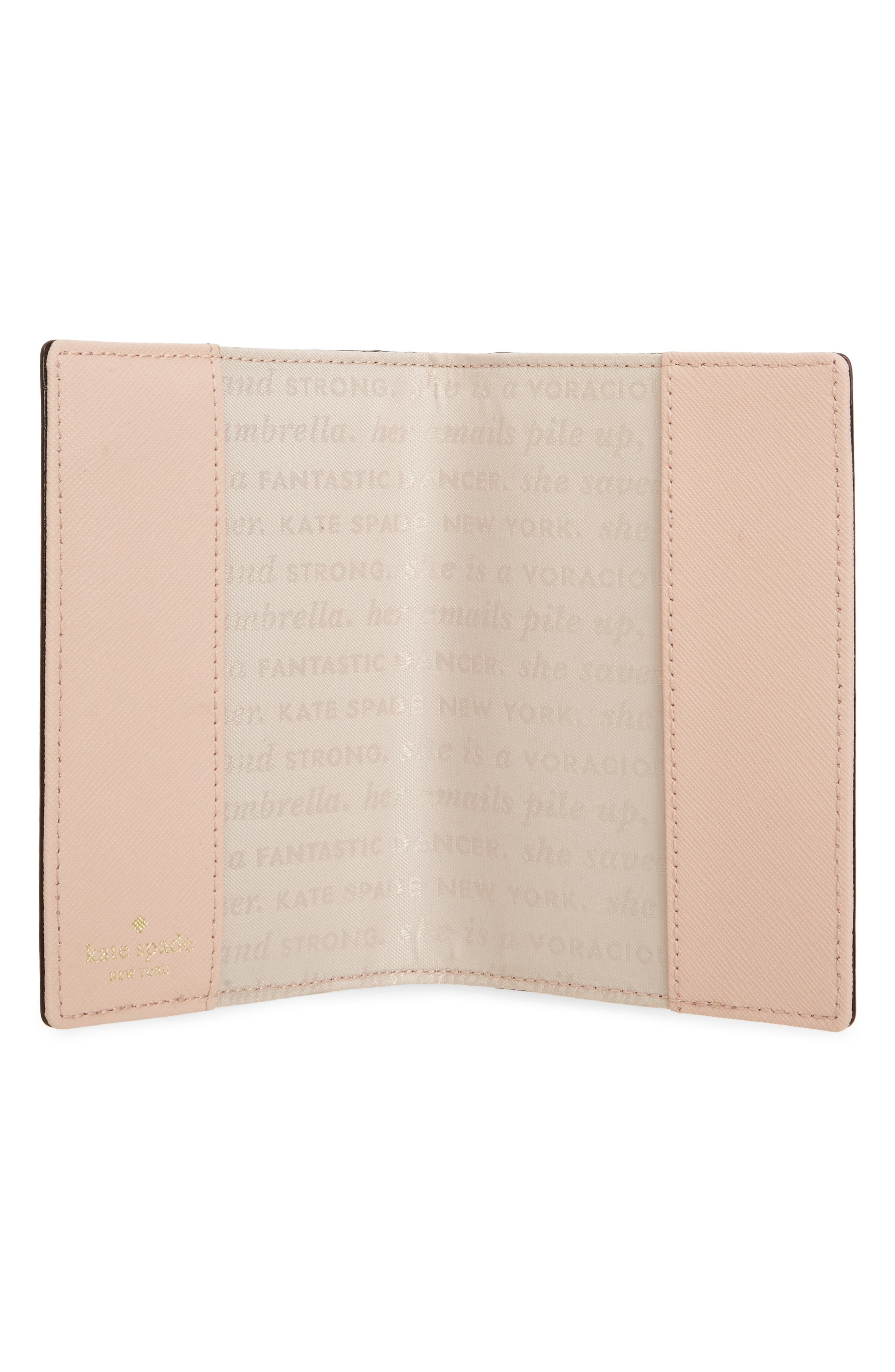 leather passport case & luggage tag set,                             Alternate thumbnail 6, color,
