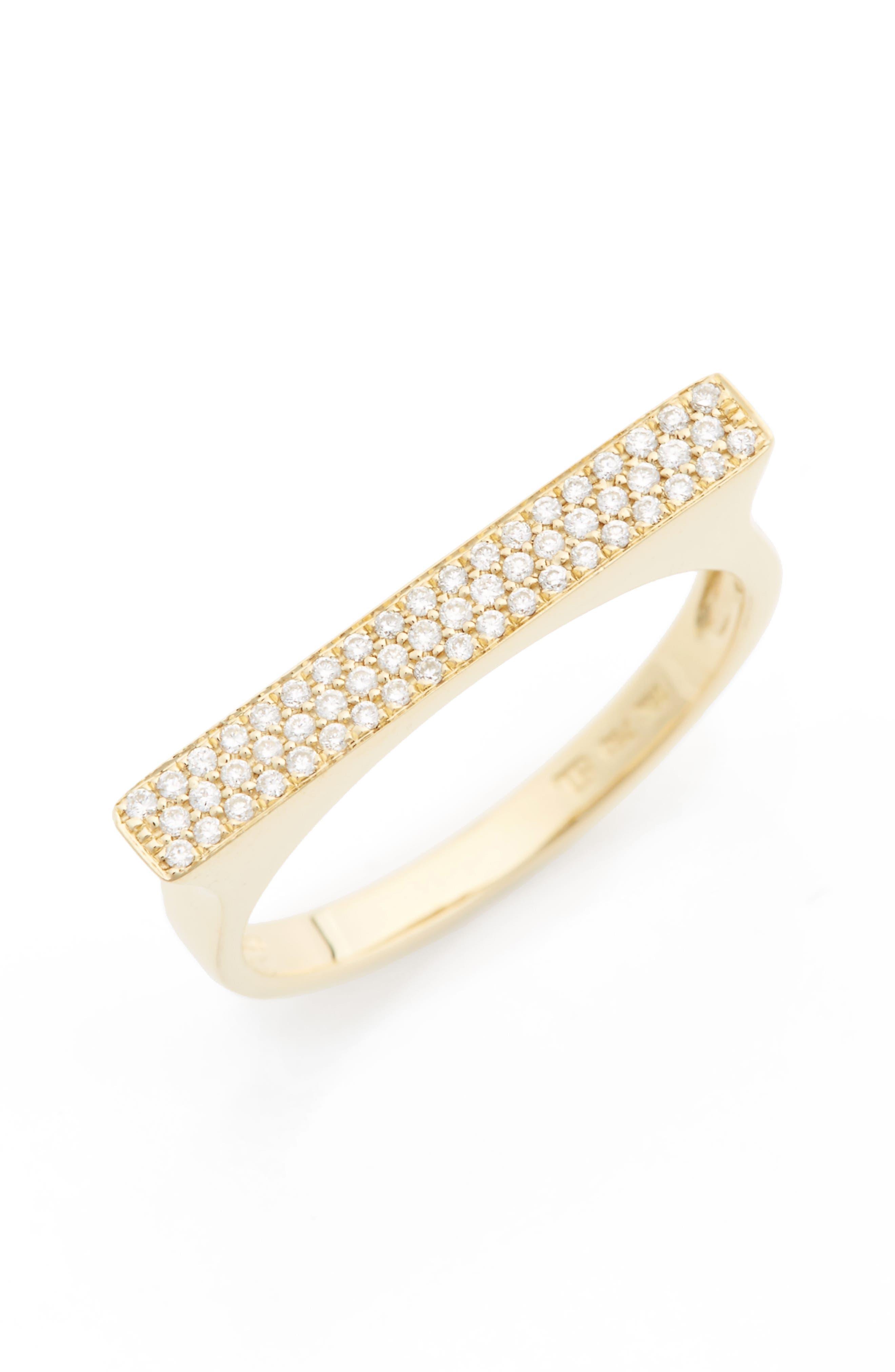 Diamond Bar Ring,                             Alternate thumbnail 2, color,                             710