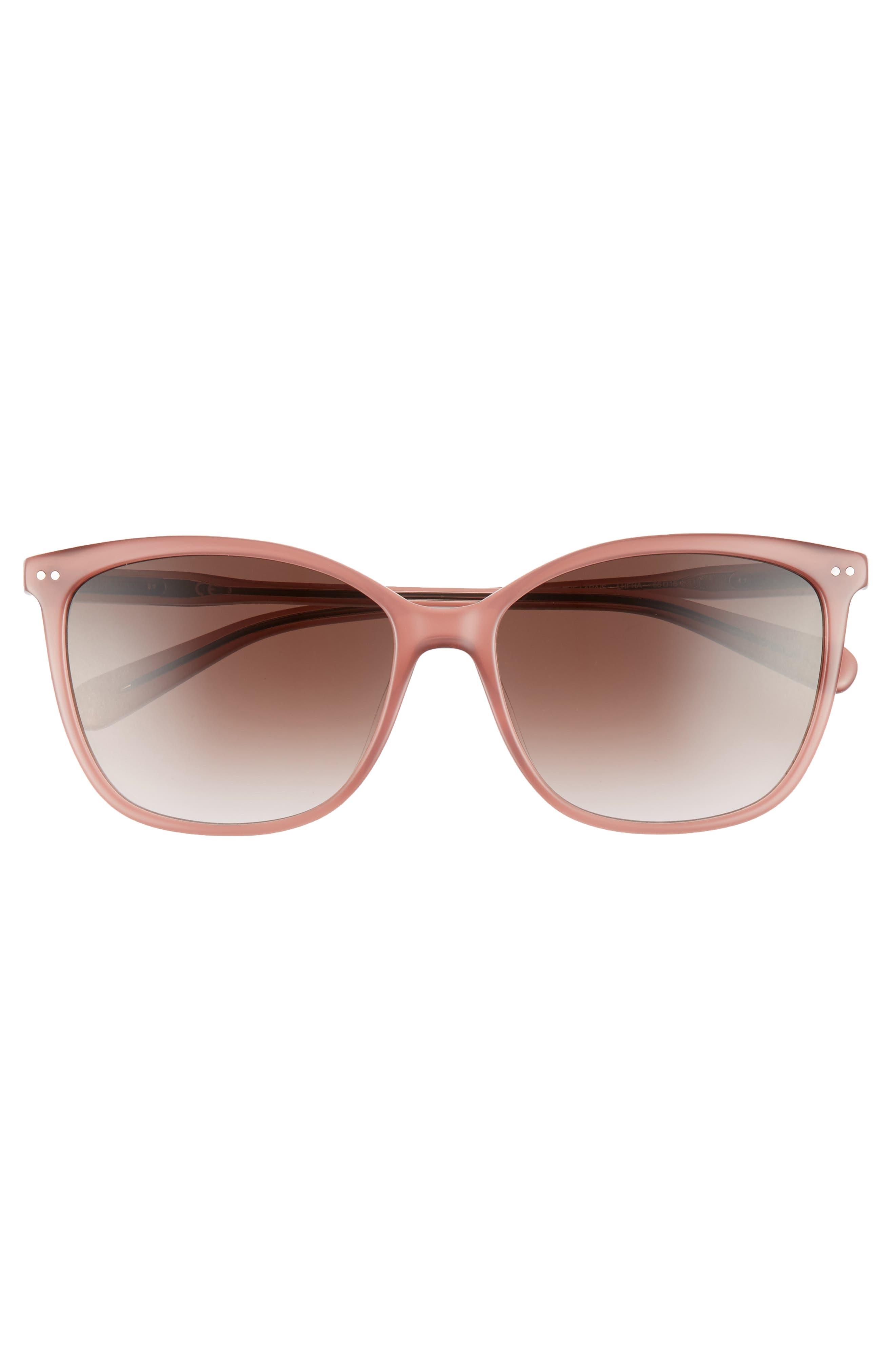 The Lara 56mm Cat Eye Sunglasses,                             Alternate thumbnail 12, color,