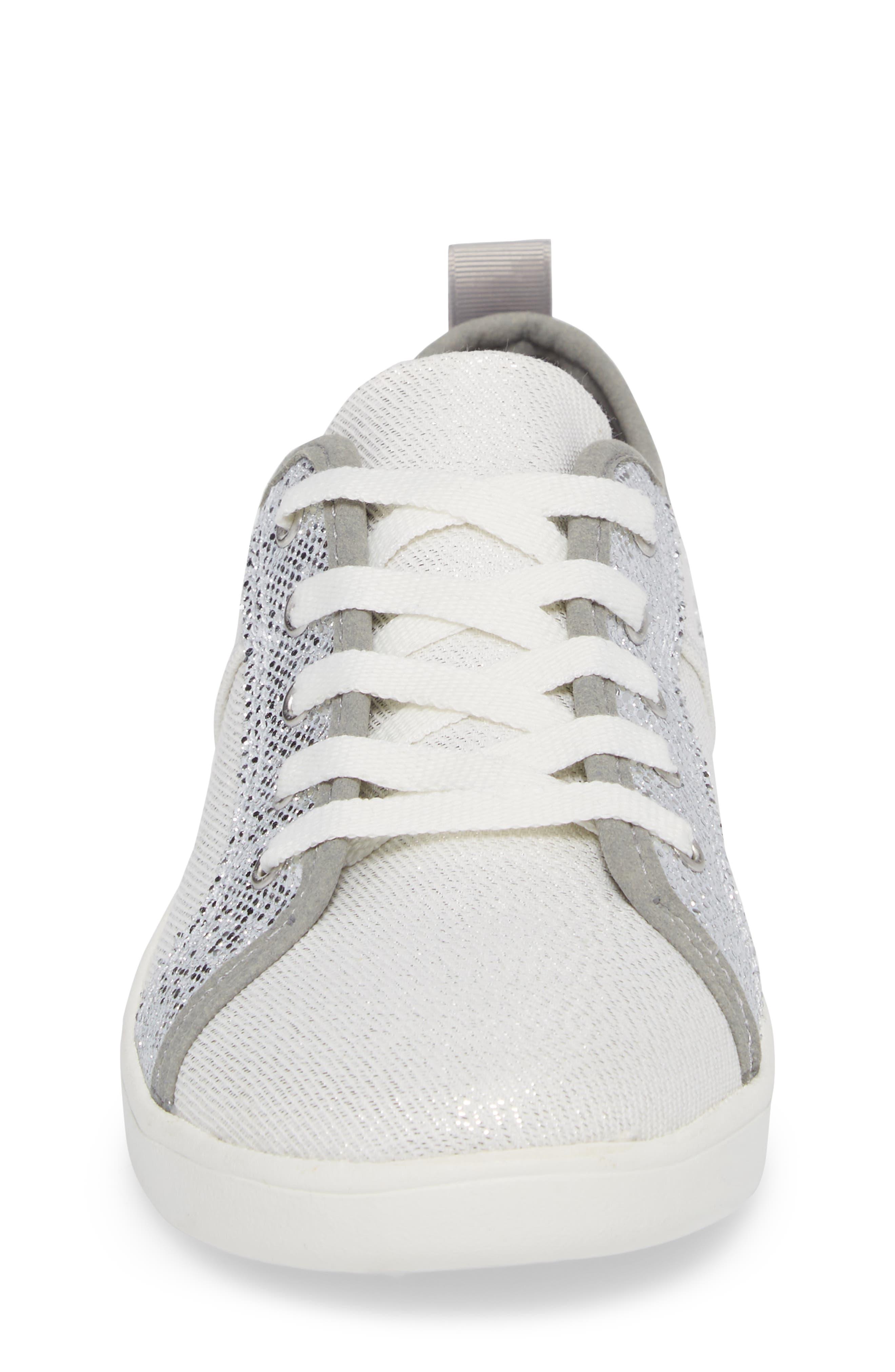 Irvin Sparkles Metallic Sneaker,                             Alternate thumbnail 4, color,                             SILVER