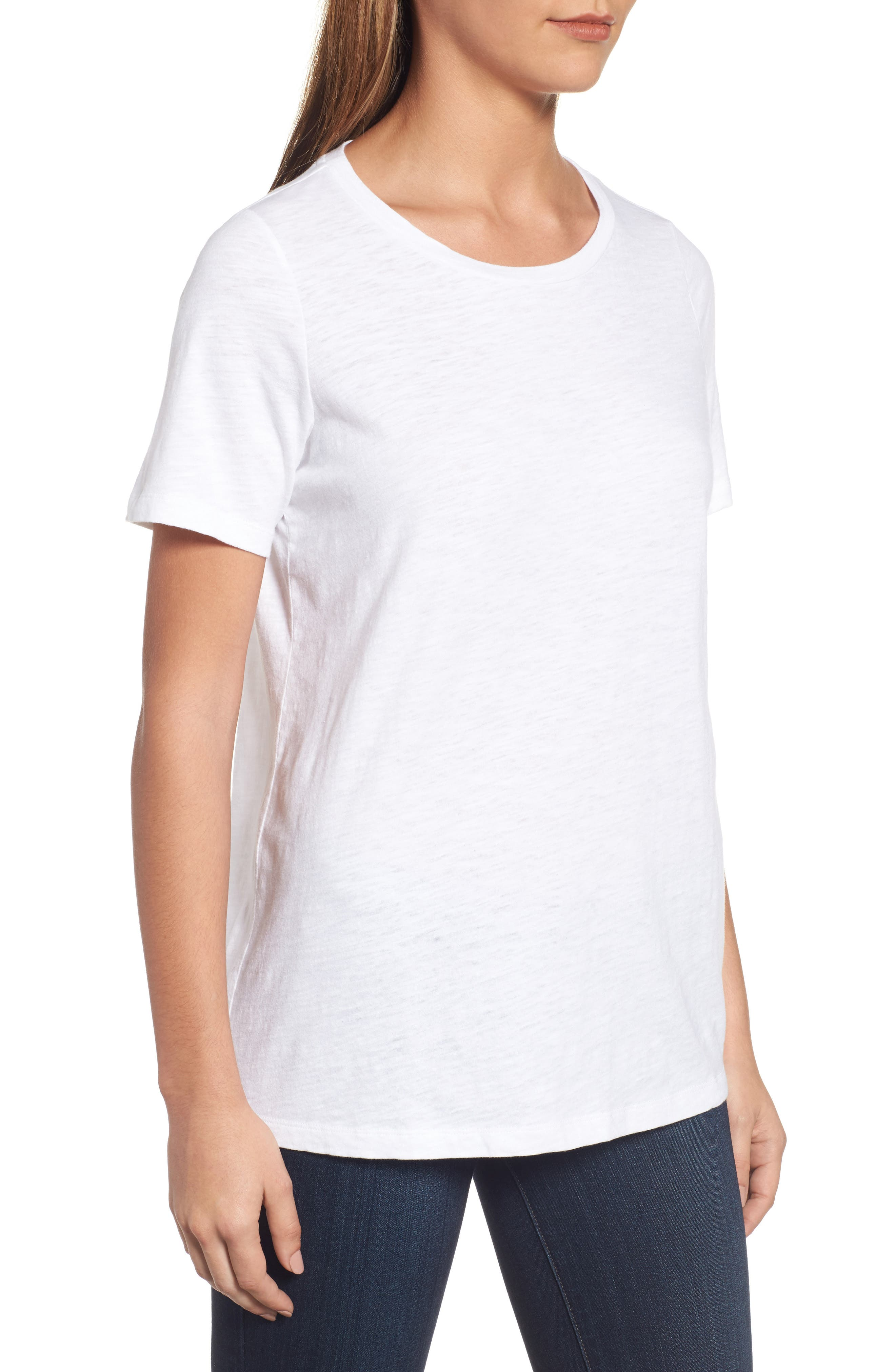 Organic Cotton Tee,                             Alternate thumbnail 3, color,                             100