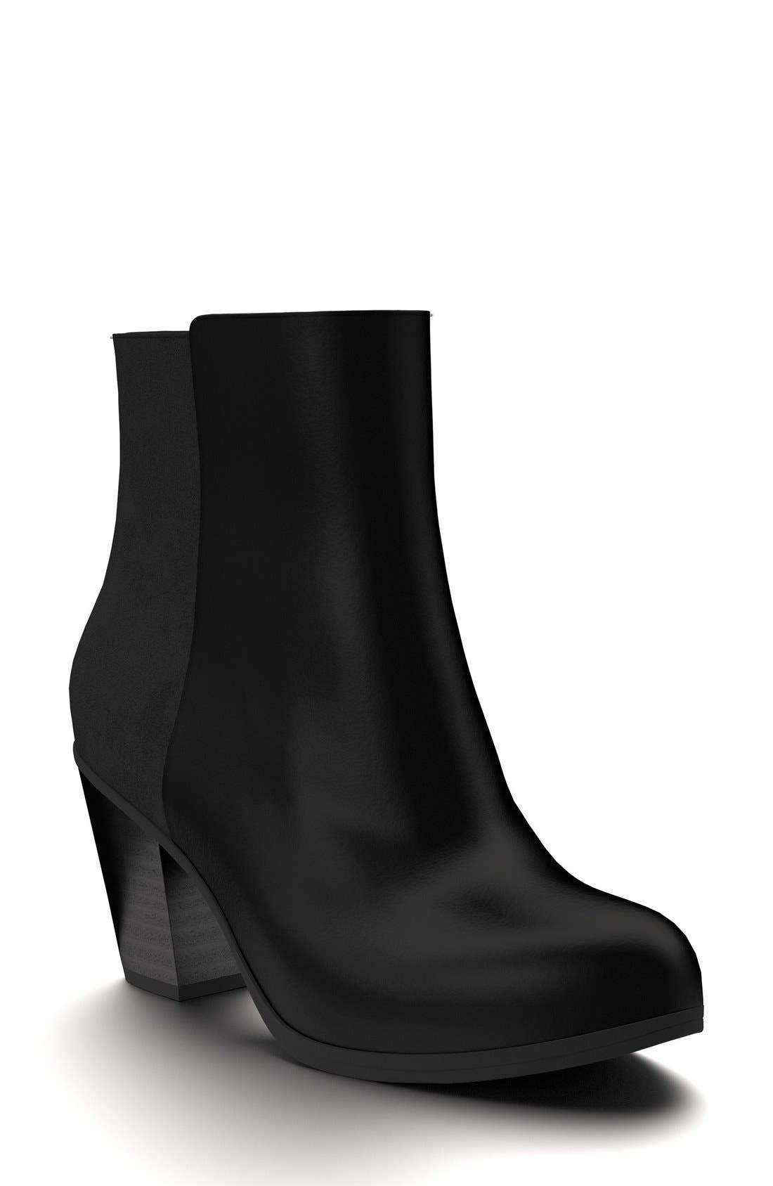 Block Heel Bootie,                         Main,                         color, 001
