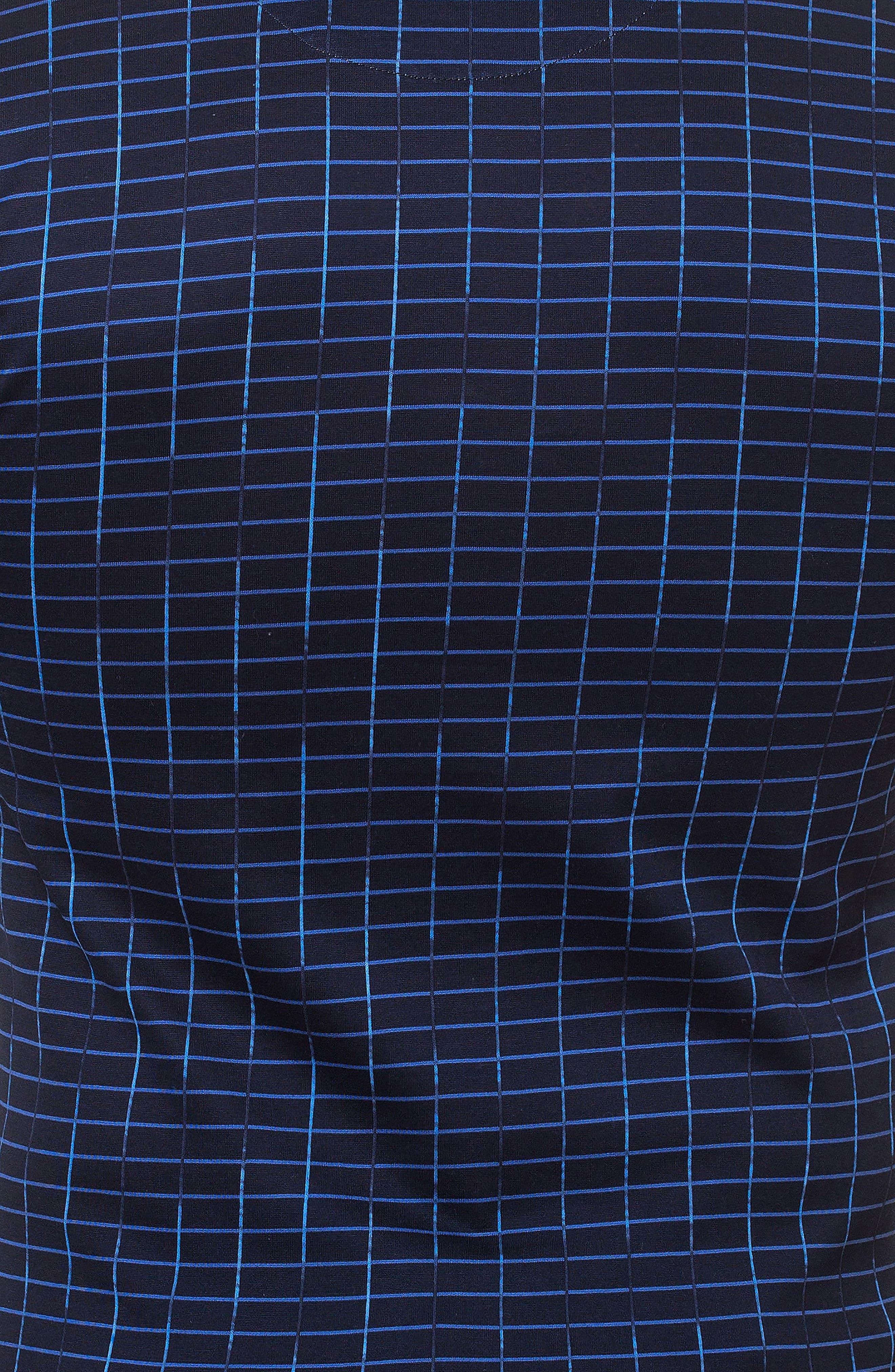 Short Sleeve V-Neck Framework T-Shirt,                             Alternate thumbnail 3, color,                             BLUE