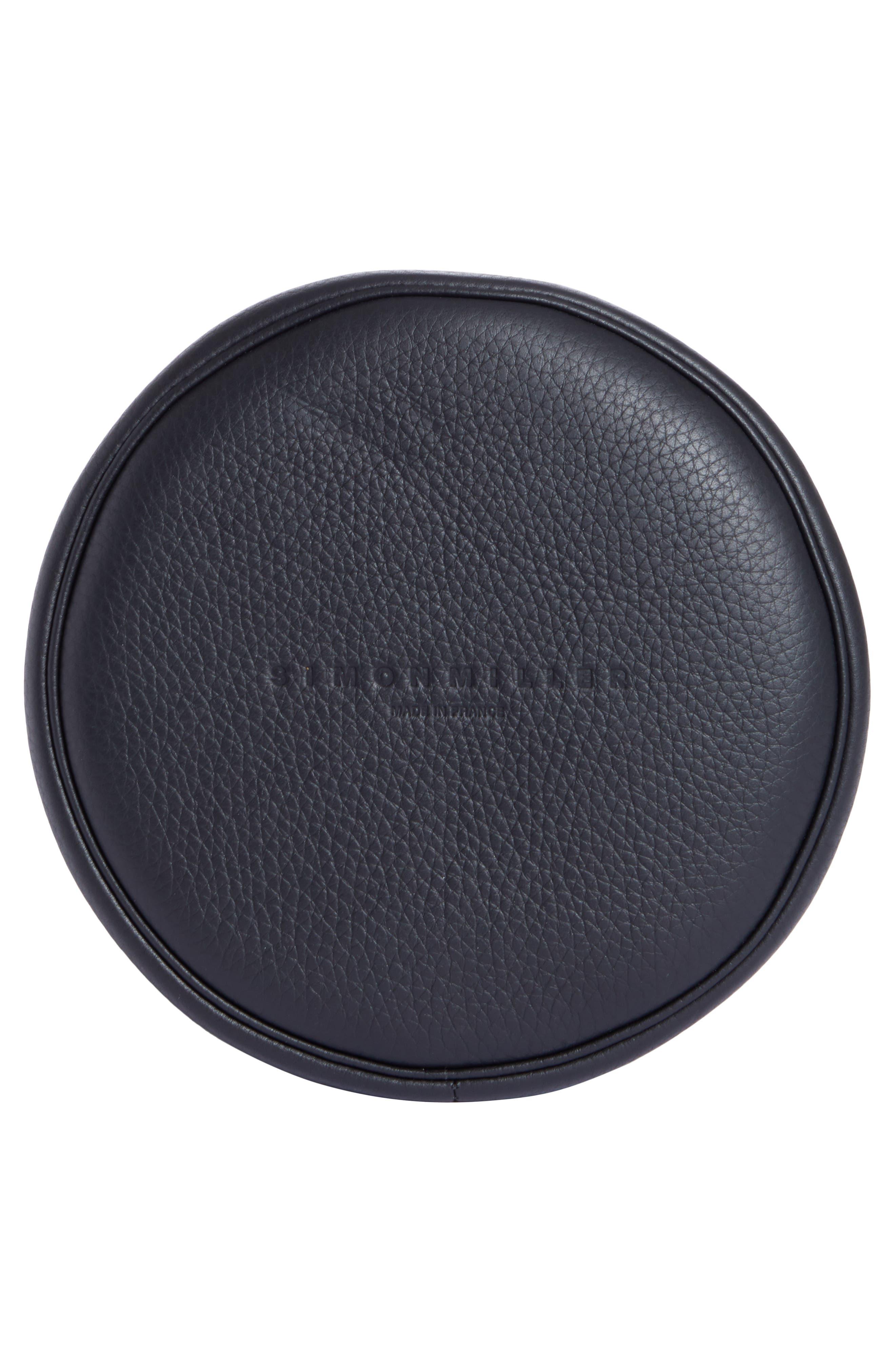 Bonsai 20 Pebbled Leather Bucket Bag,                             Alternate thumbnail 6, color,                             001