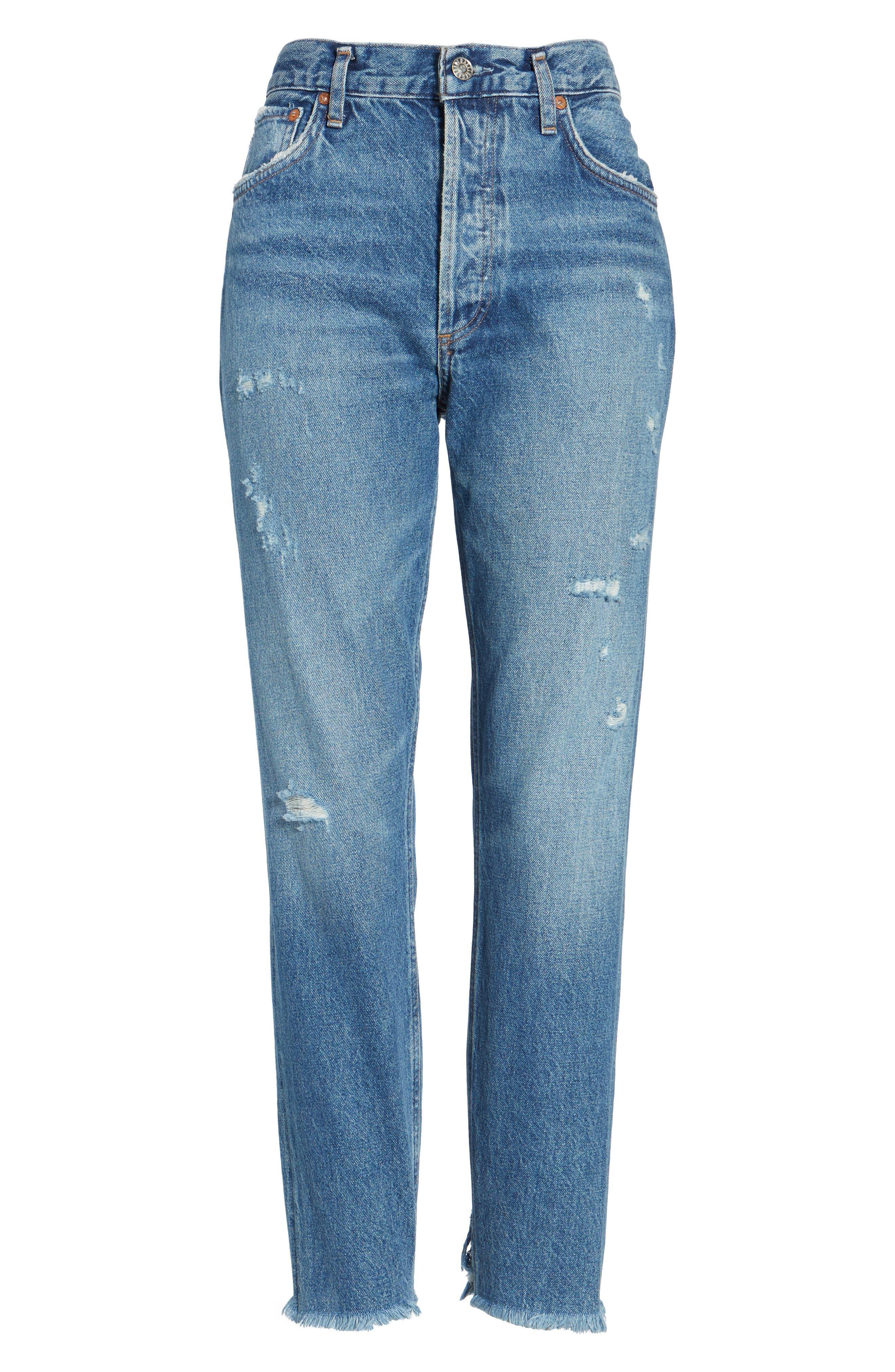 Jamie High Rise Classic Jeans,                             Alternate thumbnail 6, color,                             425