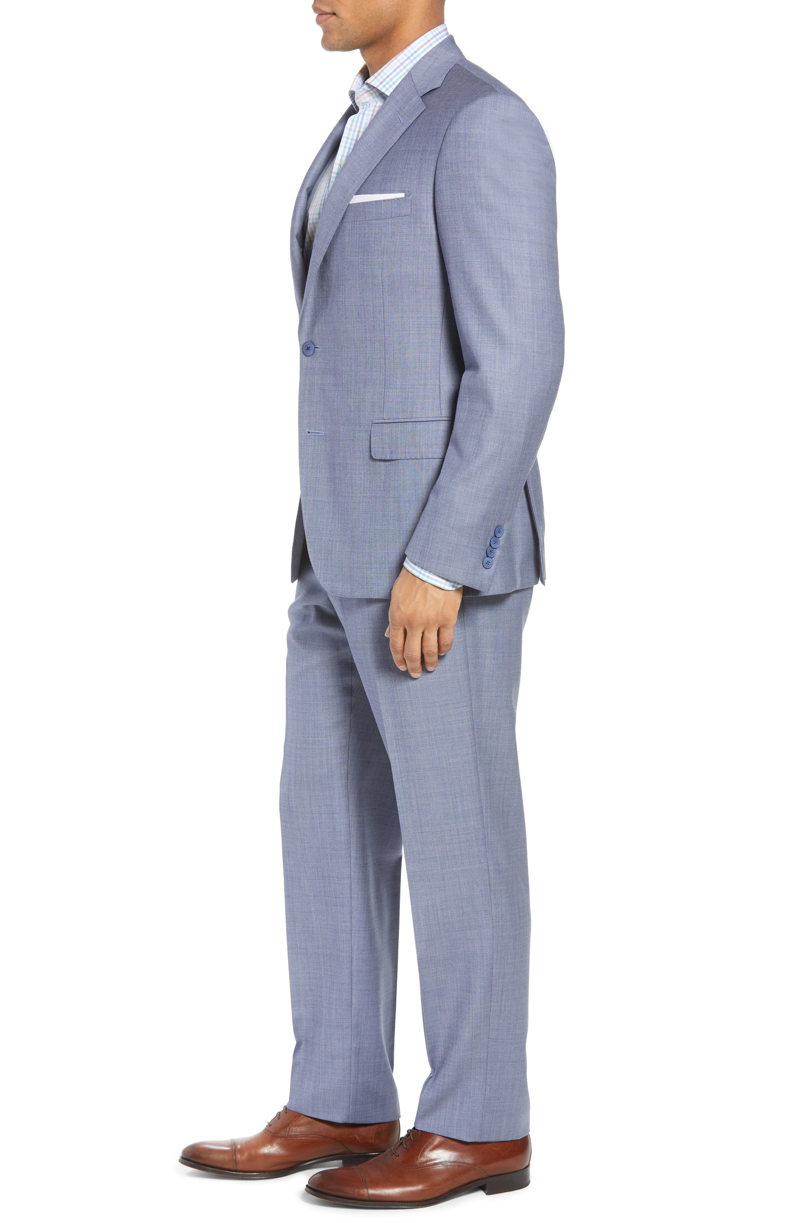 Classic Fit Solid Wool Suit,                             Alternate thumbnail 3, color,                             450