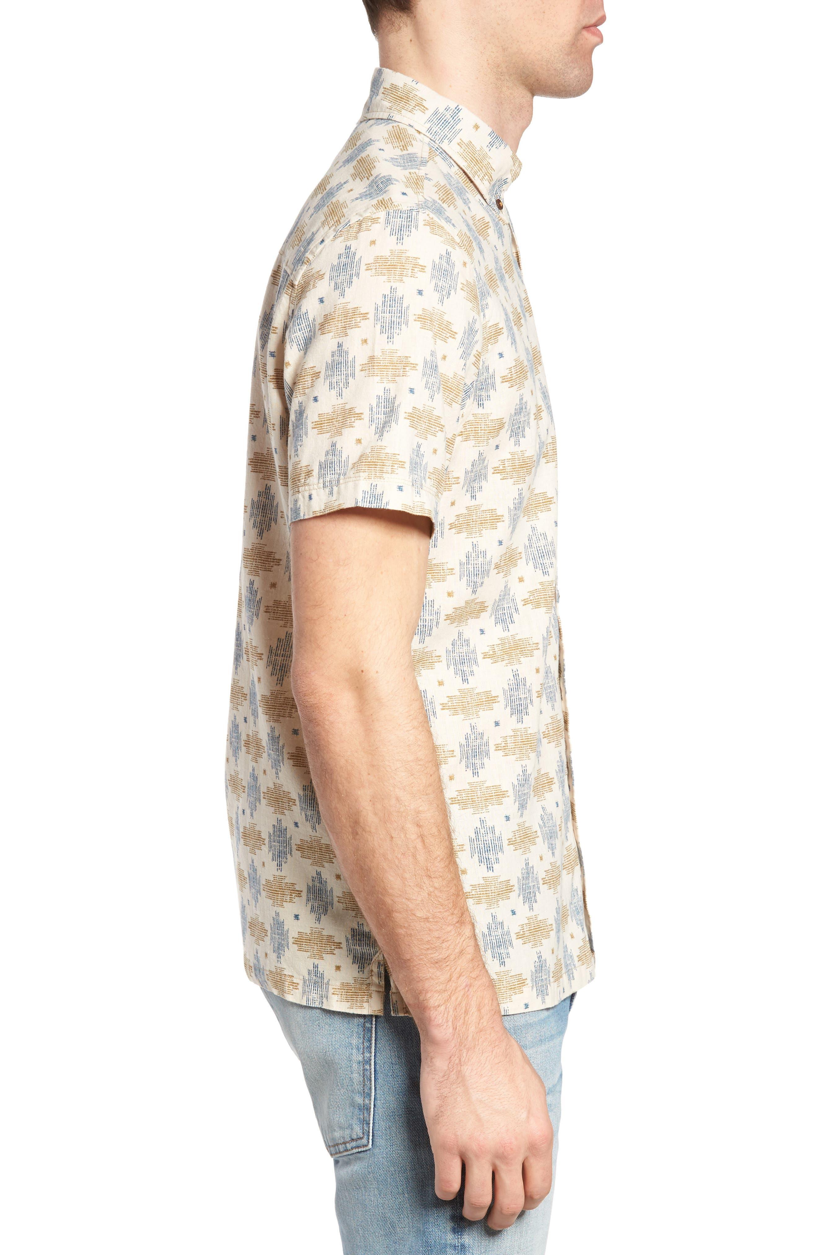Giles Regular Fit Linen & Cotton Sport Shirt,                             Alternate thumbnail 3, color,                             251