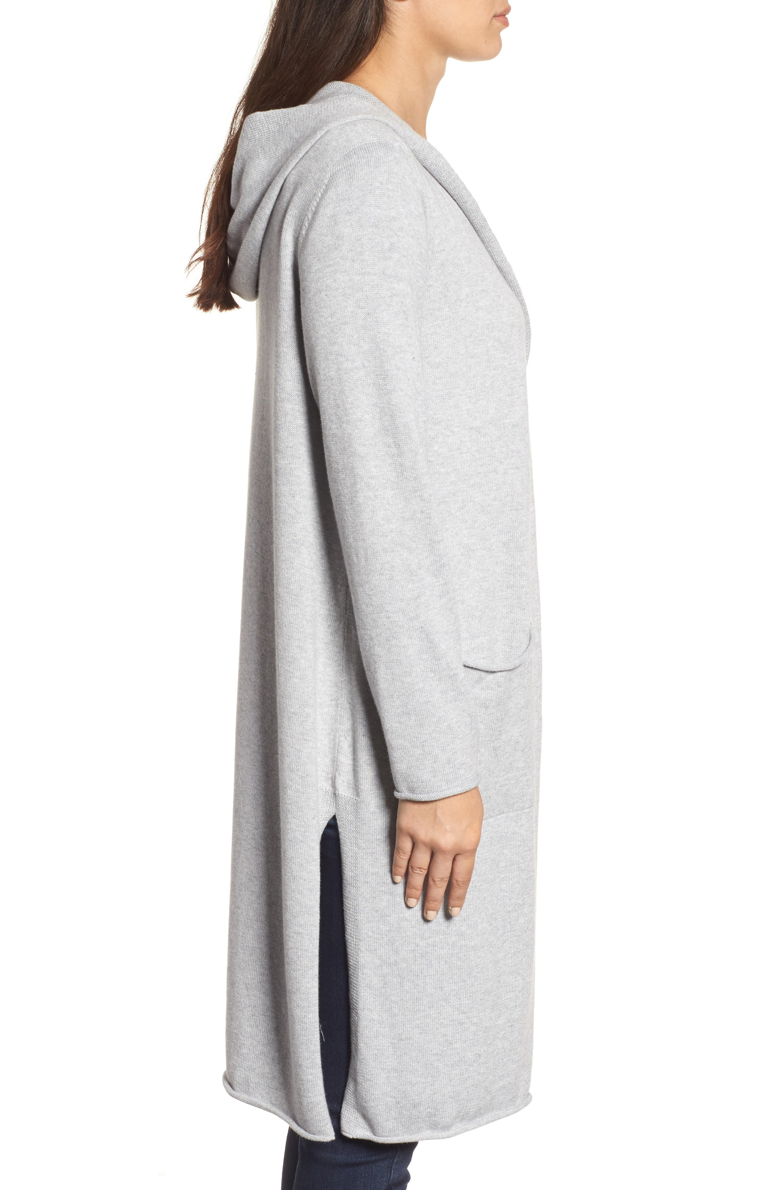 Organic Cotton Hooded Cardigan,                             Alternate thumbnail 3, color,                             022