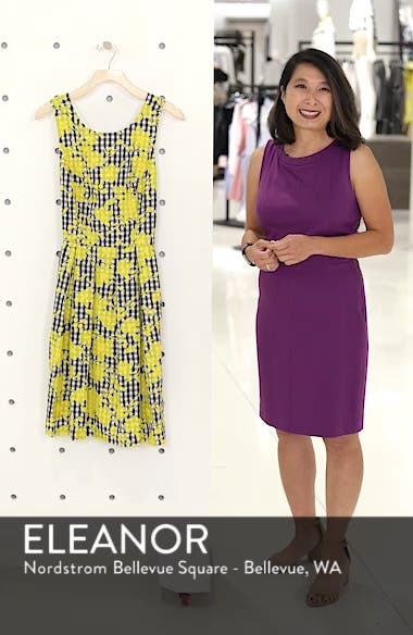 Embroidered Cross Back Cotton Gingham Dress, sales video thumbnail