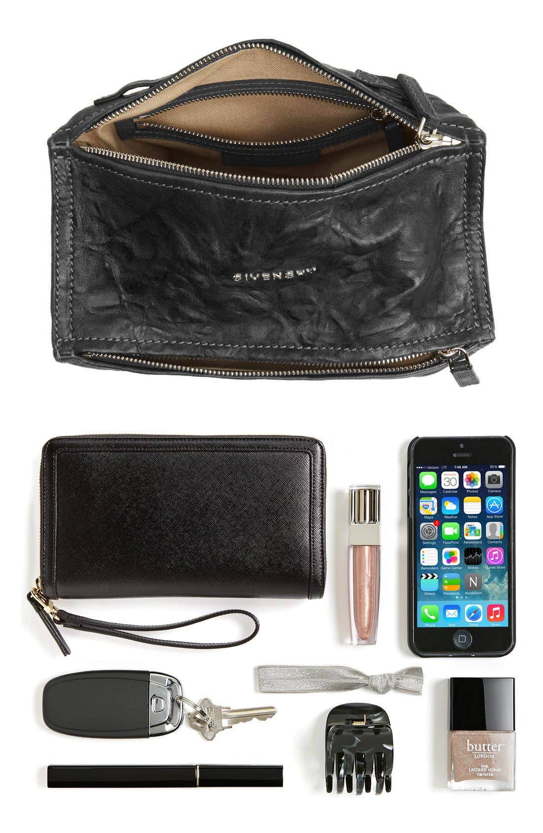 'Mini Pepe Pandora' Leather Shoulder Bag,                             Alternate thumbnail 2, color,                             BLACK