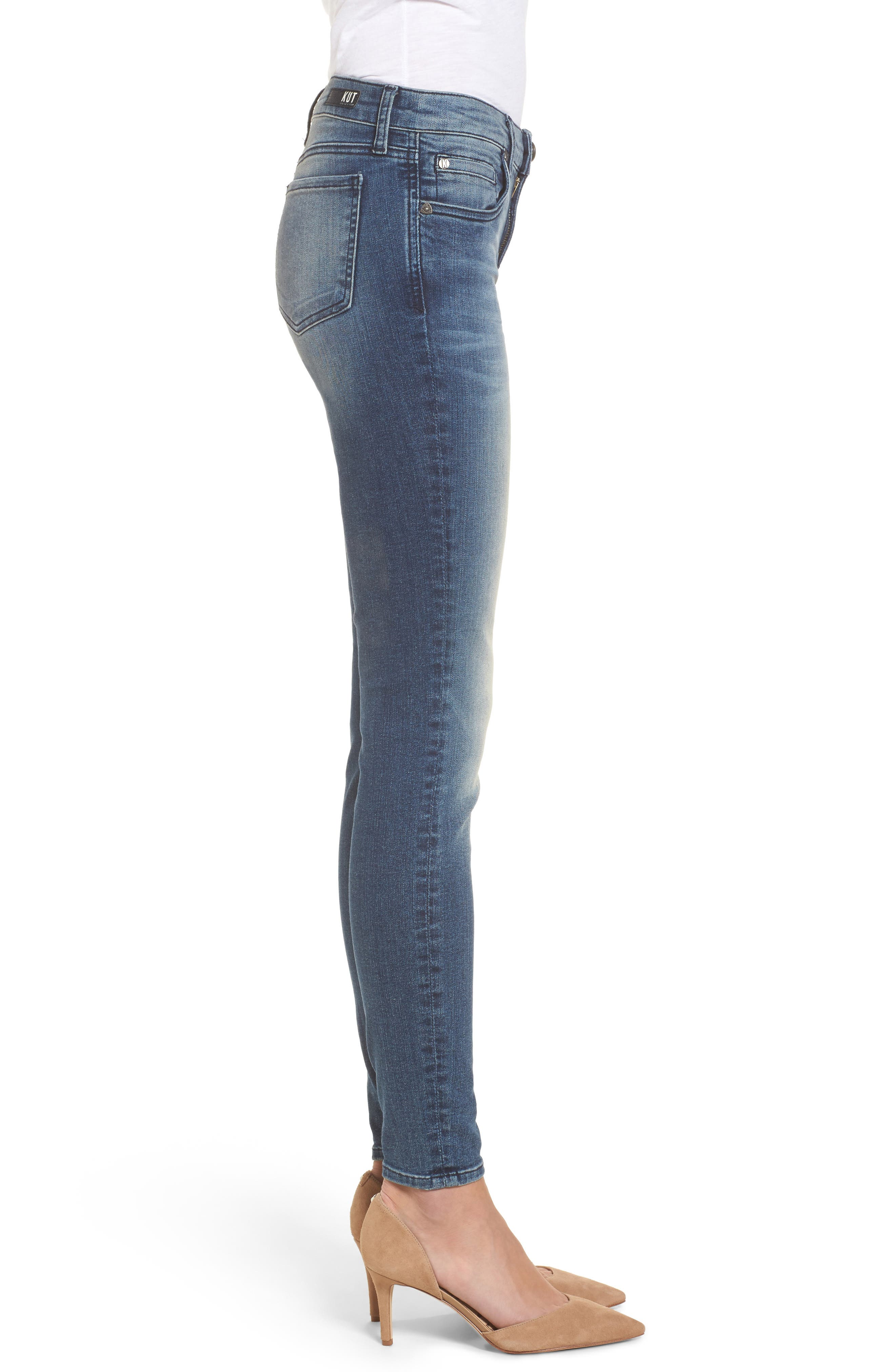 Donna High Waist Ankle Skinny Jeans,                             Alternate thumbnail 3, color,