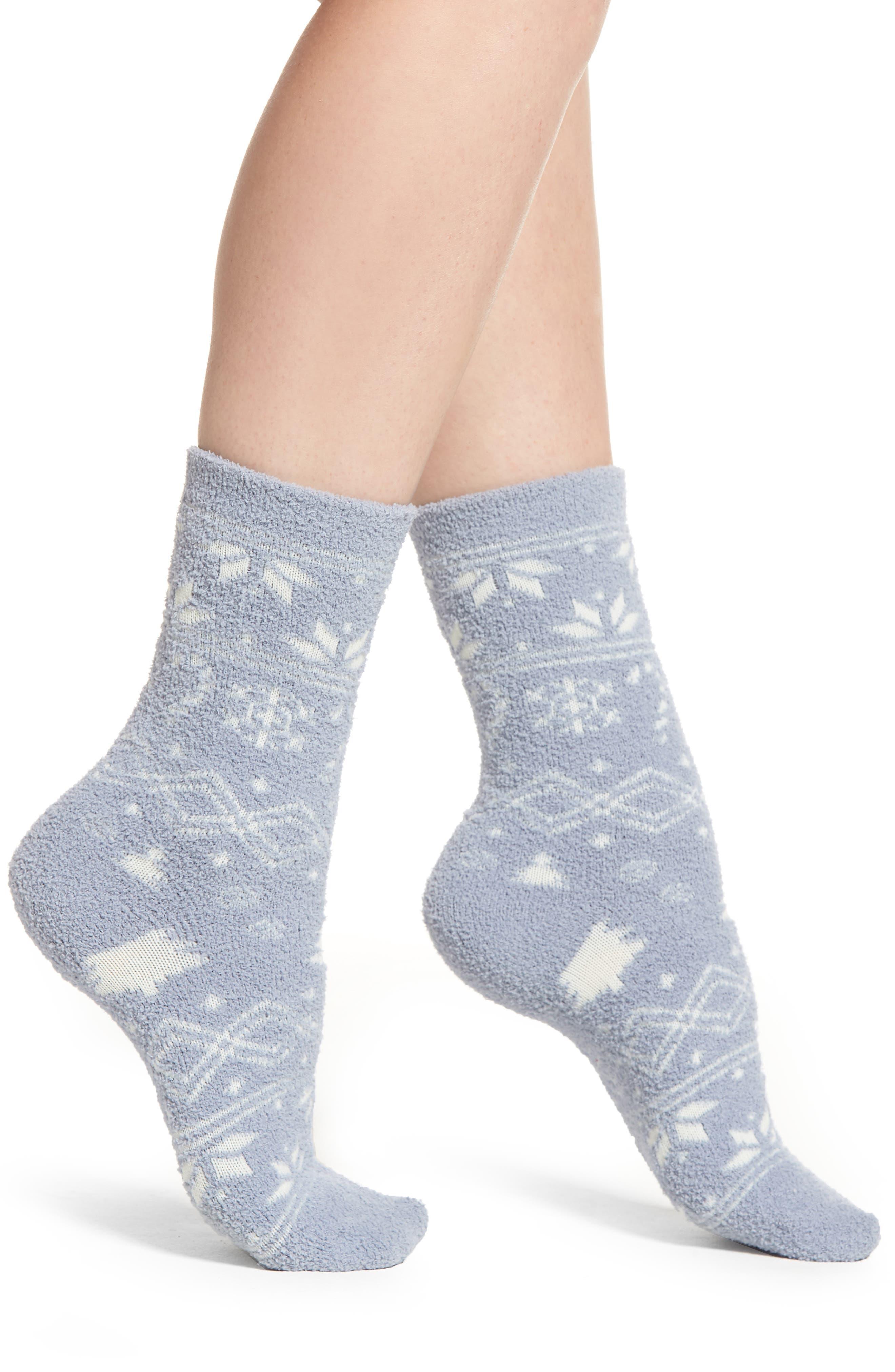 Chamois Crew Socks,                         Main,                         color, BLUE FAIRISLE
