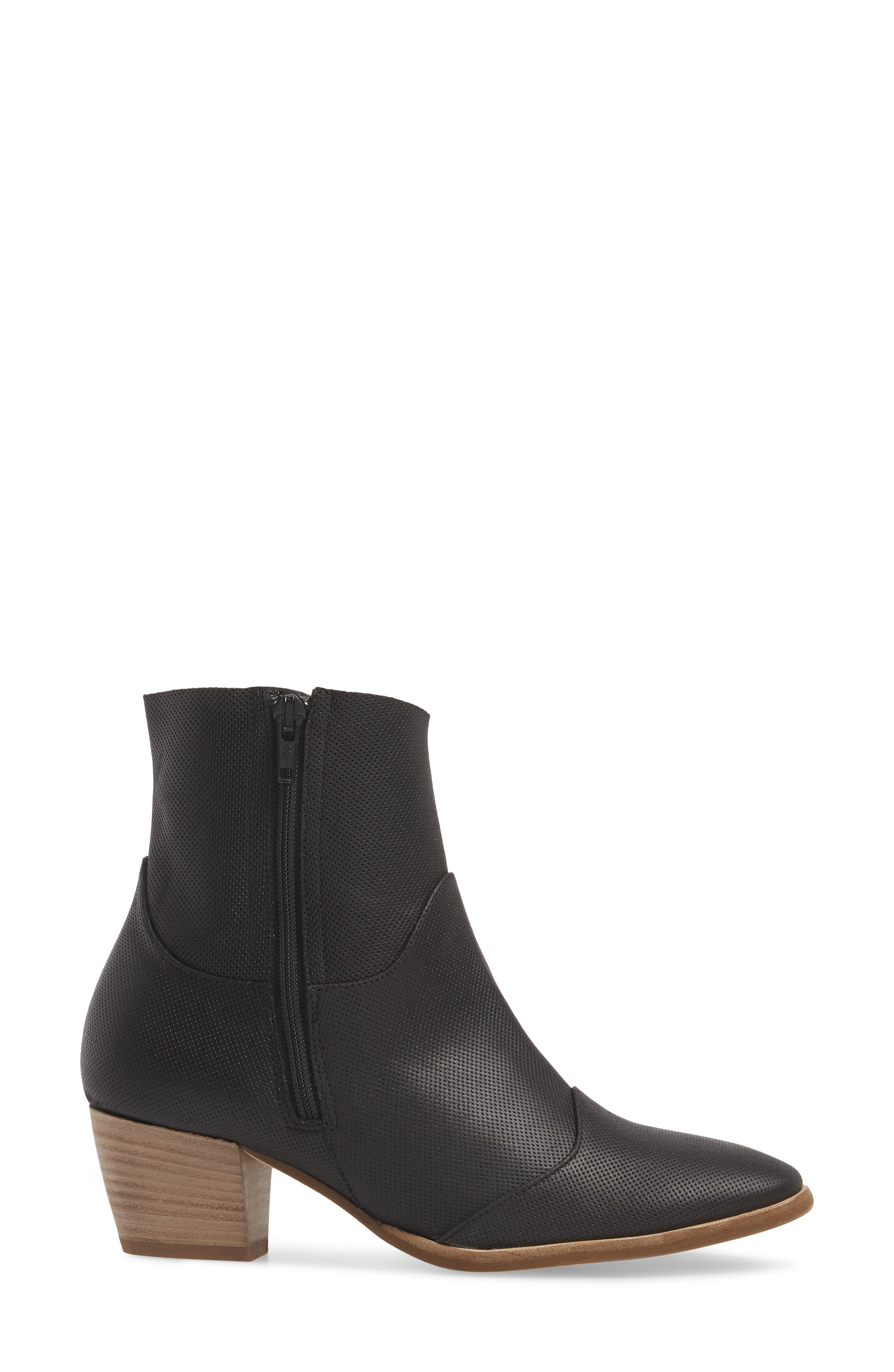 Robin Bootie,                             Alternate thumbnail 3, color,                             BLACK LEATHER
