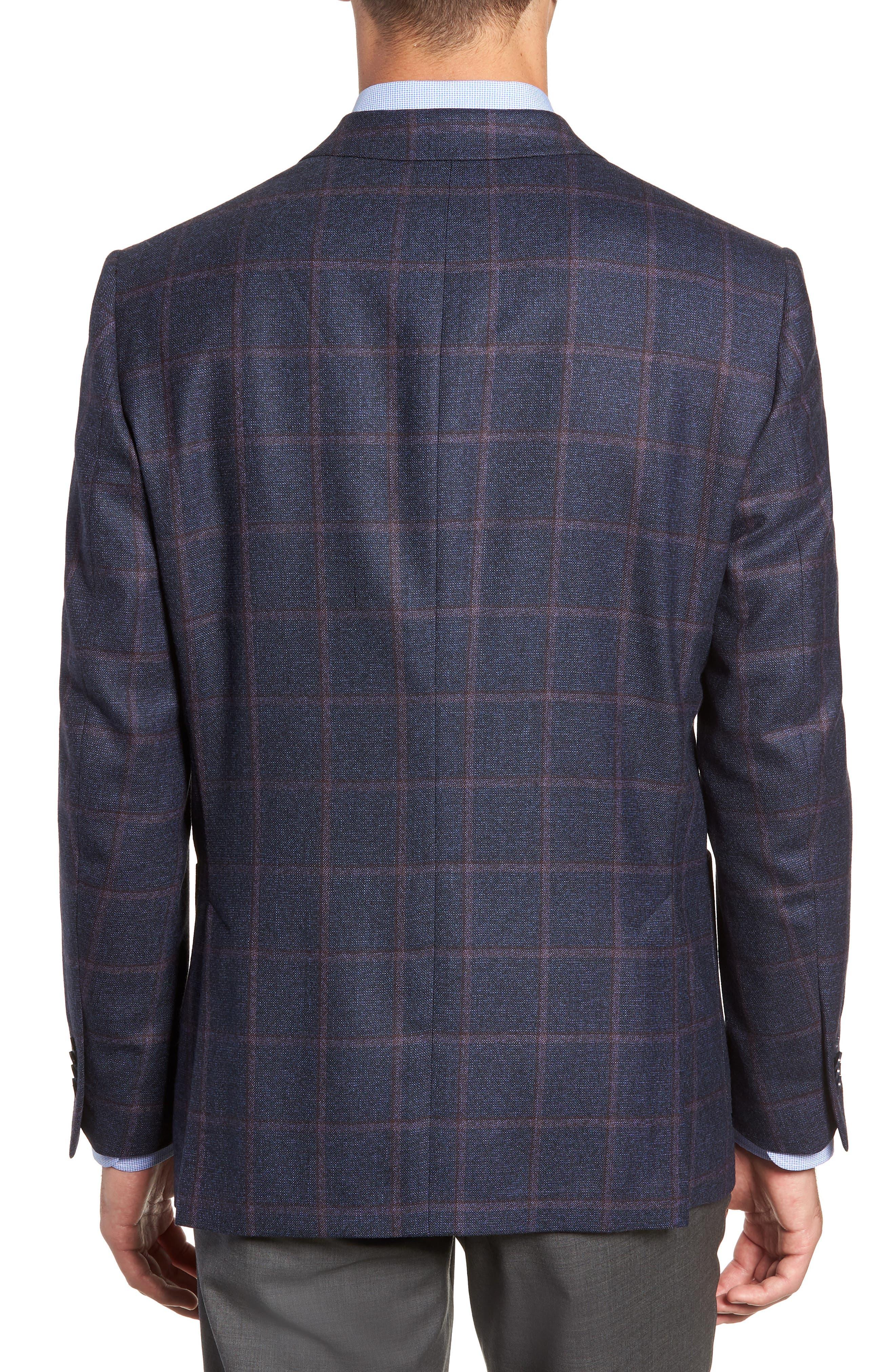 Hyperlight Classic Fit Wool Sport Coat,                             Alternate thumbnail 2, color,                             NAVY