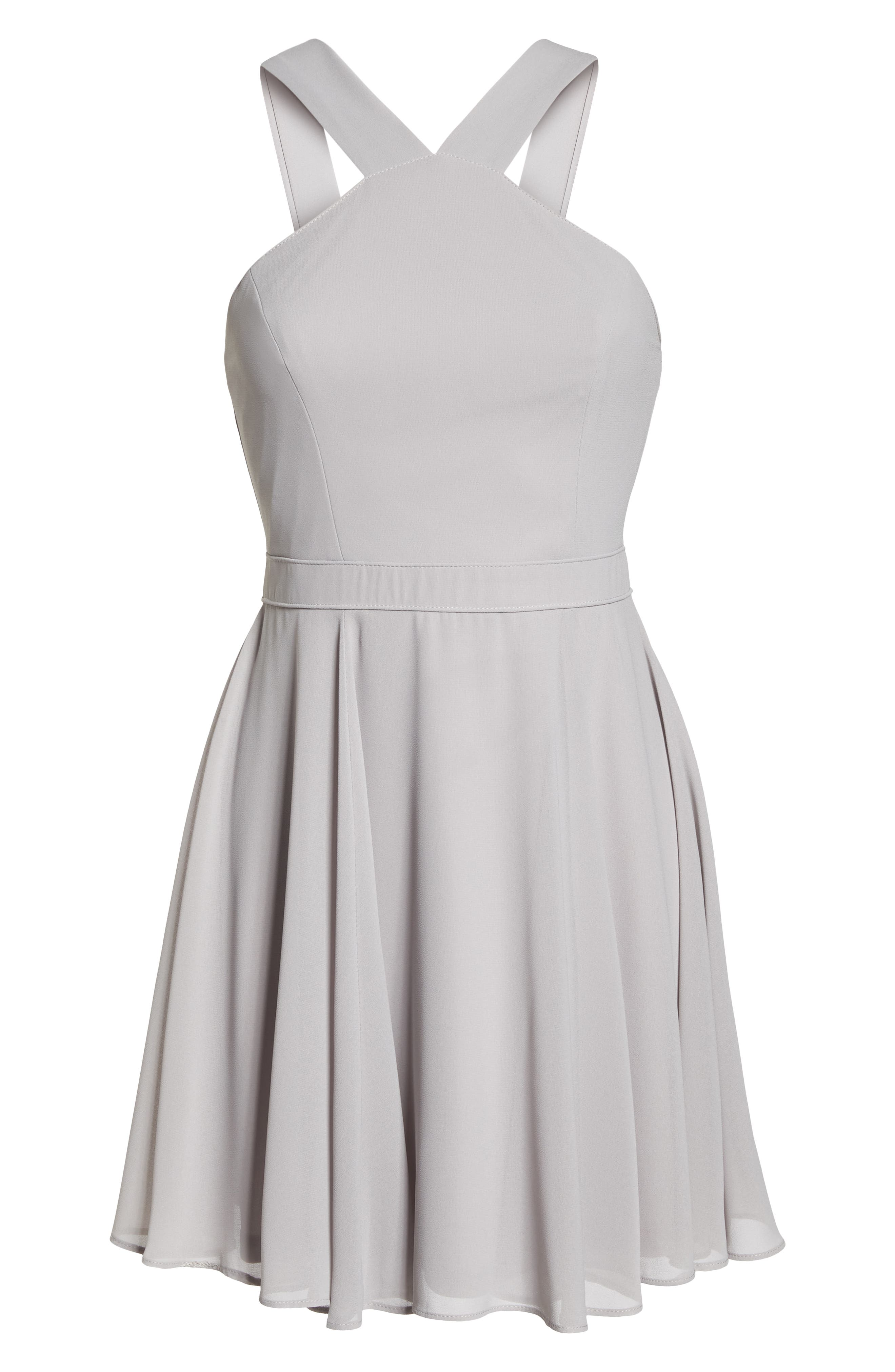 Forevermore Skater Dress,                             Alternate thumbnail 7, color,                             GREY