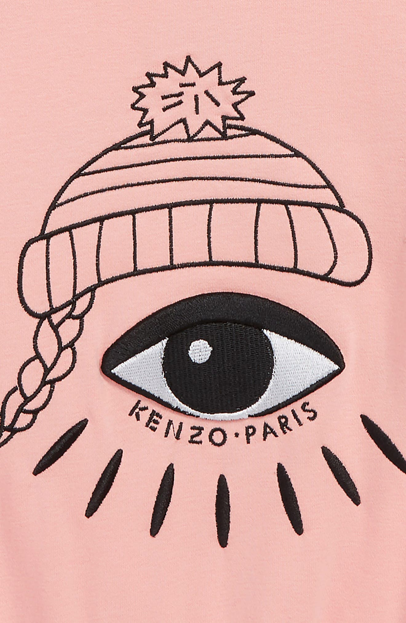 Eye Sweater,                             Alternate thumbnail 3, color,                             MIDDLE PINK