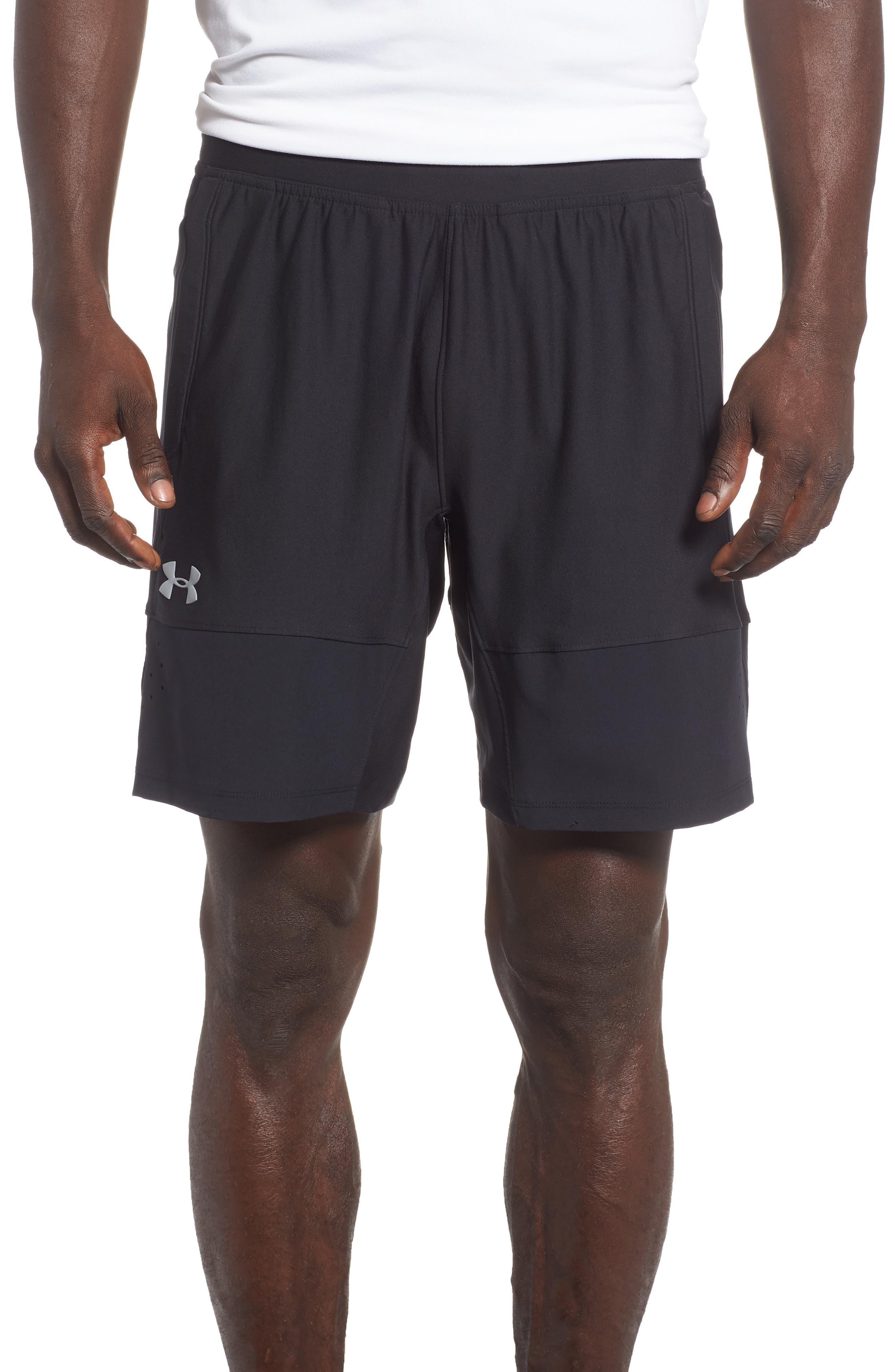 Threadborne Vanish Fitted Shorts,                         Main,                         color, BLACK