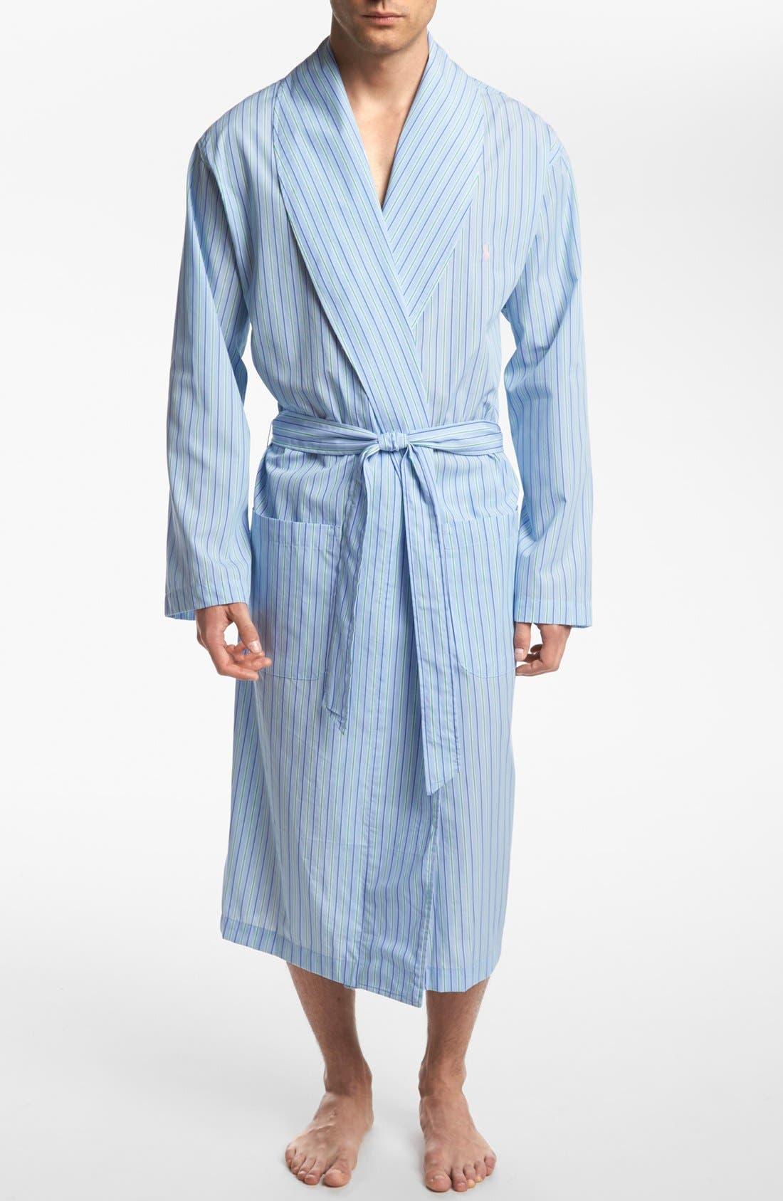 Woven Robe,                             Main thumbnail 1, color,                             BARI STRIPE