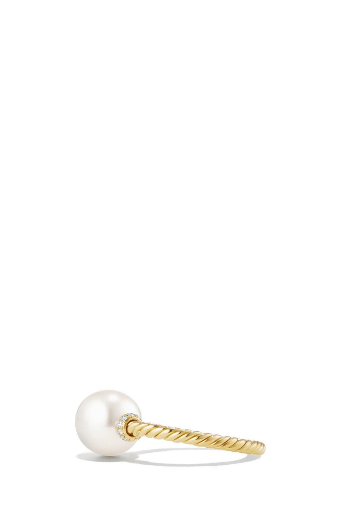 'Solari' Station Ring with Diamonds and Pearls,                             Alternate thumbnail 3, color,                             PEARL