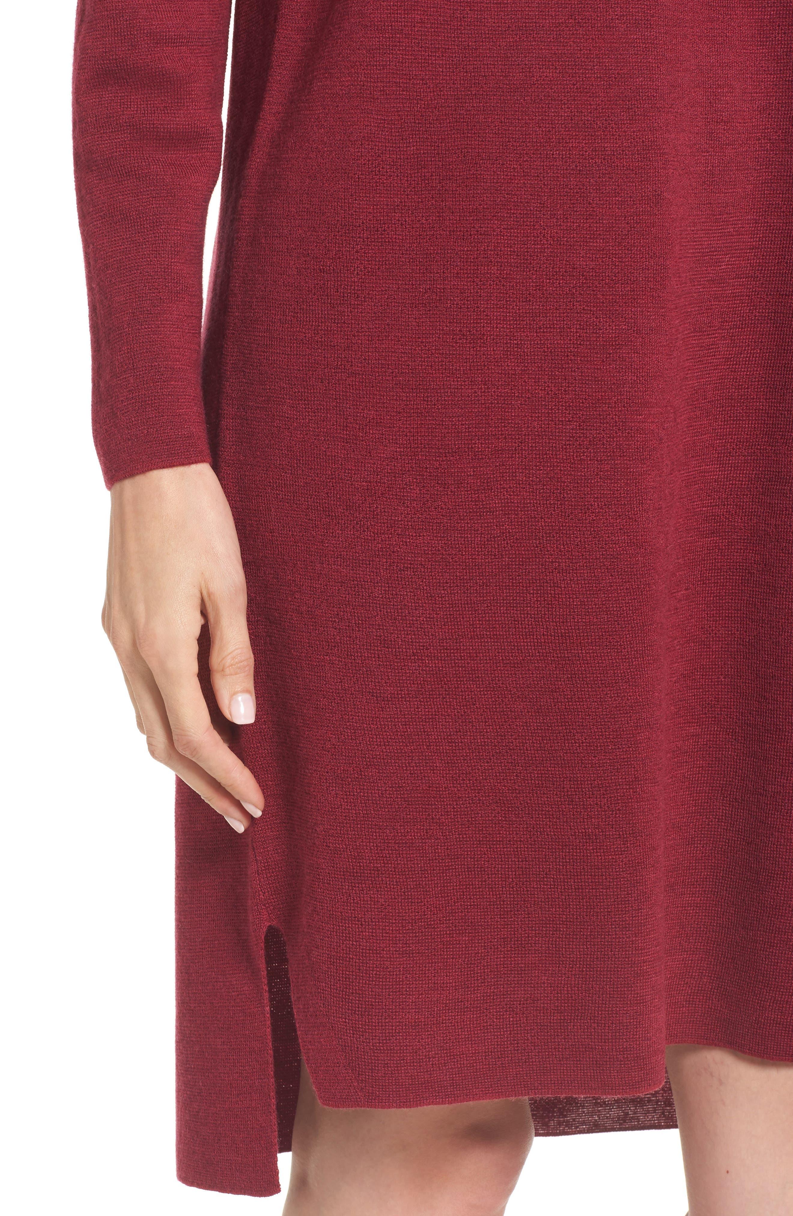Merino Wool Sweater Dress,                             Alternate thumbnail 16, color,