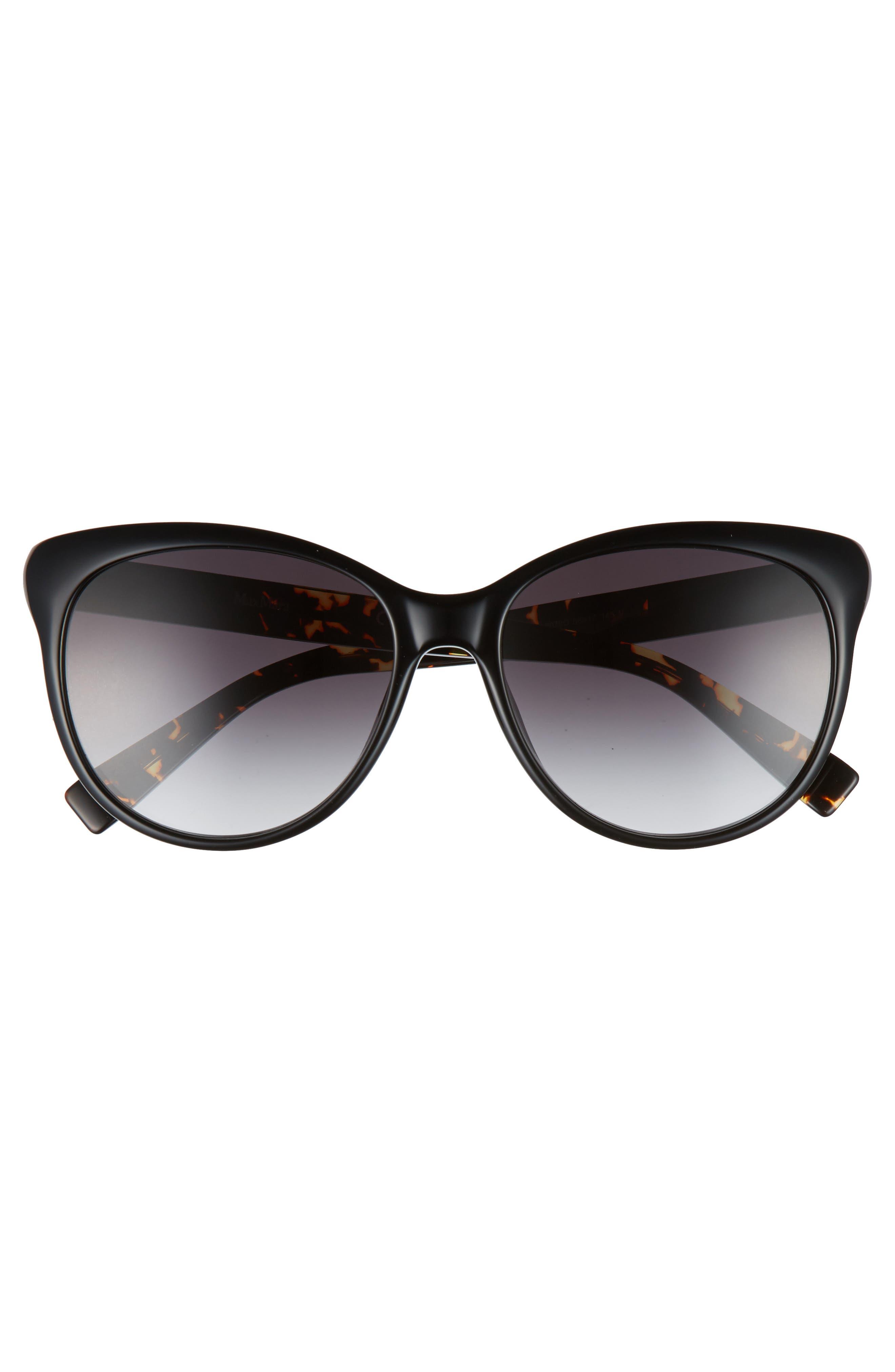 Cosy 56mm Gradient Cat Eye Sunglasses,                             Alternate thumbnail 3, color,                             001