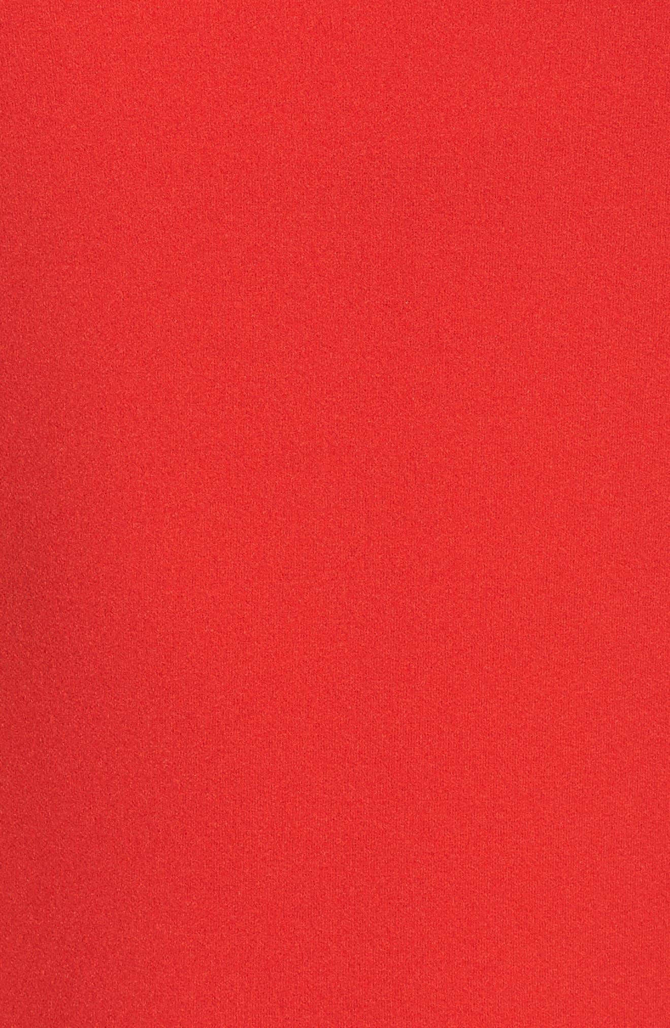 Off the Shoulder Sheath Dress,                             Alternate thumbnail 18, color,